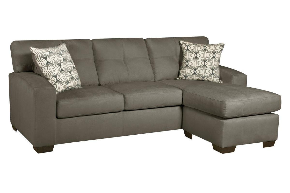Dolphin Microfiber Sofa With Chaise Within Chaise Sofas (View 12 of 20)