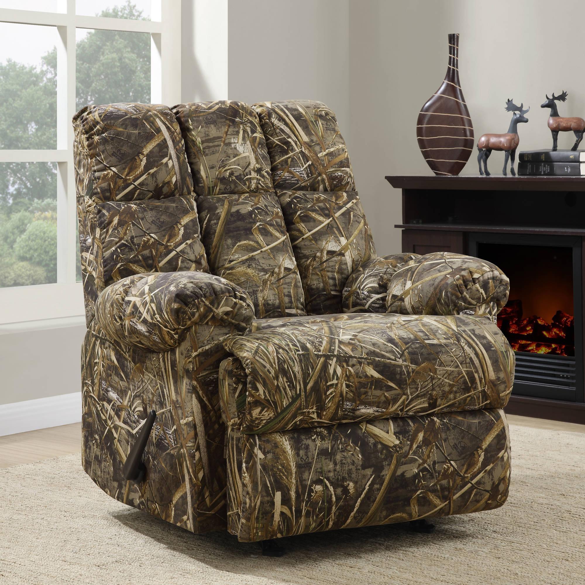 Dorel Home Realtree Camouflage Rocker Recliner – Walmart Inside Camouflage Sofas (Image 7 of 20)