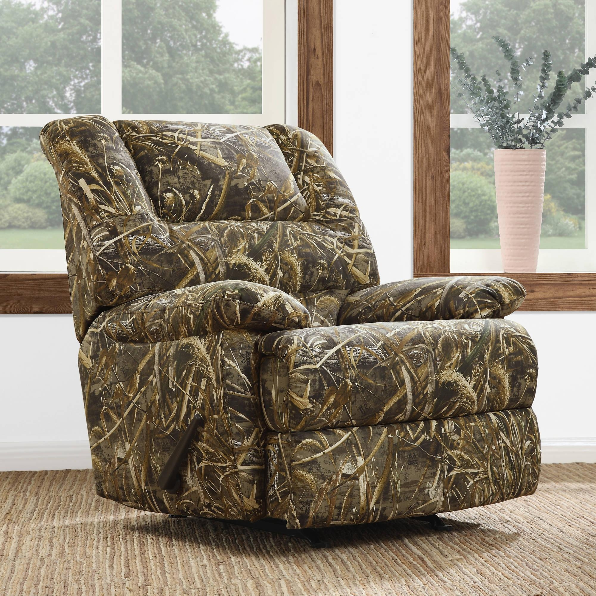 Dorel Living Realtree Camouflage Deluxe Recliner, Camo – Walmart Pertaining To Camo Reclining Sofas (Image 12 of 20)