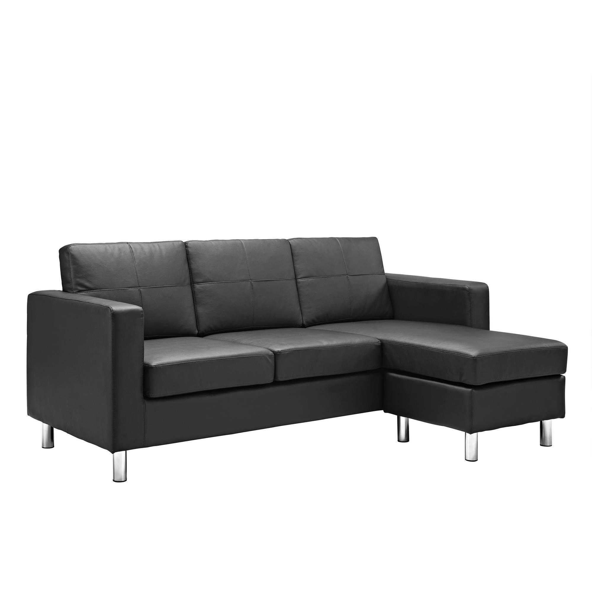 Dorel Living Small Spaces Configurable Sectional Sofa, Multiple For Wallmart Sofa (Image 8 of 20)