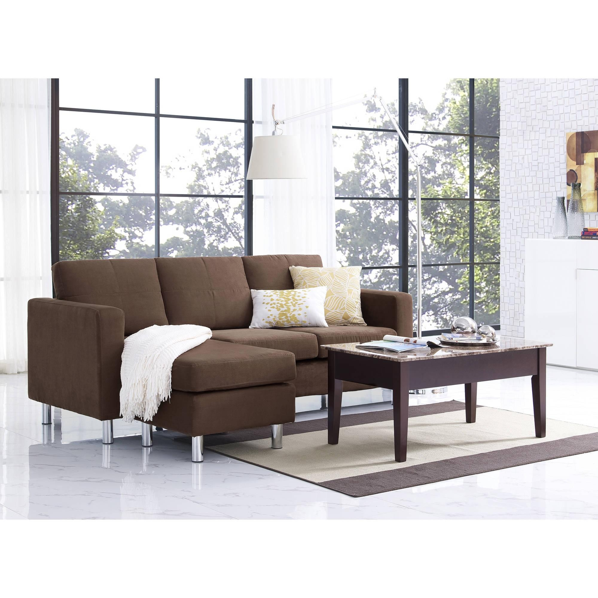 Dorel Living Small Spaces Configurable Sectional Sofa, Multiple Inside Small Sectional Sofas For Small Spaces (Image 9 of 20)