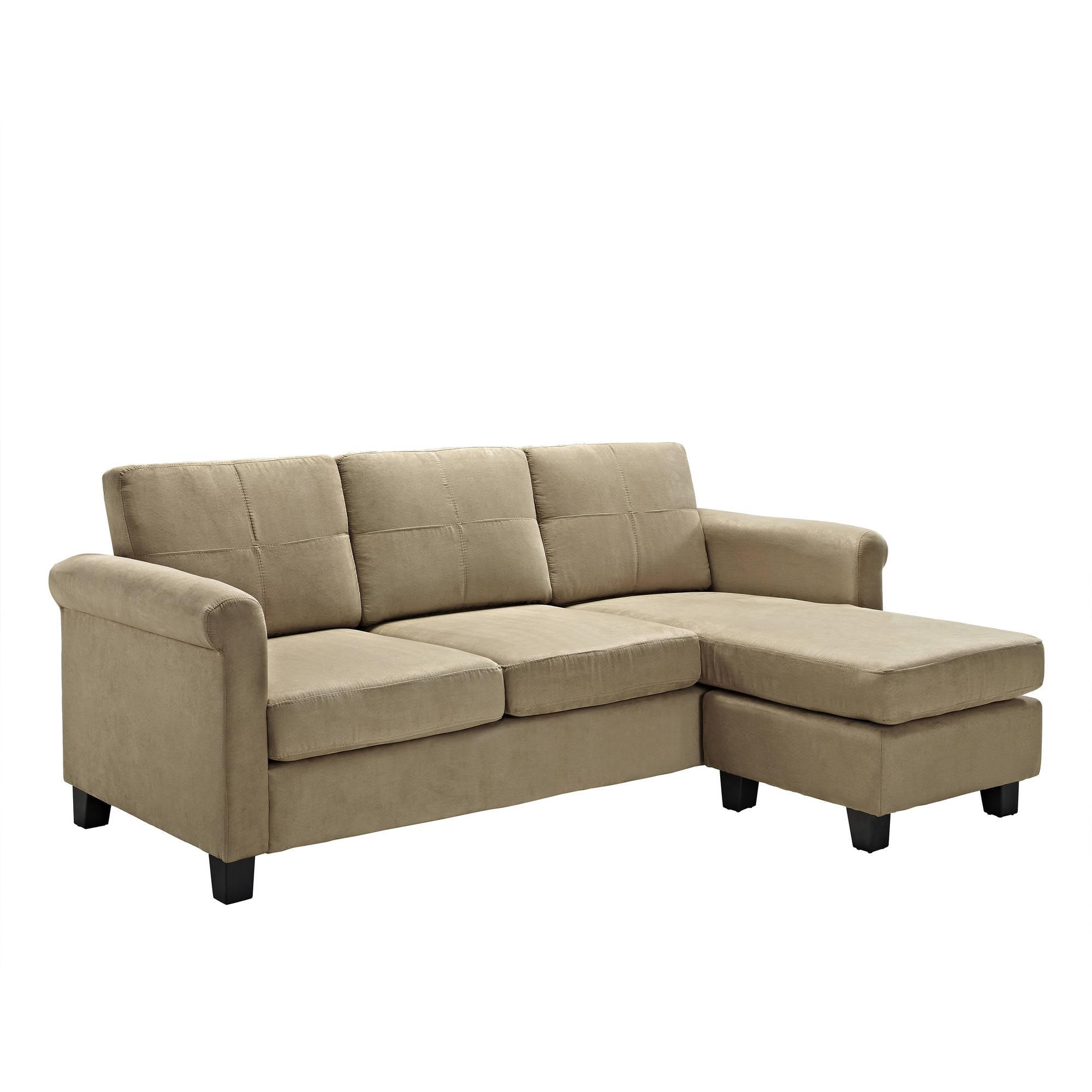 Dorel Living Small Spaces Configurable Sectional Sofa, Multiple Pertaining To Sectional Small Spaces (View 9 of 20)