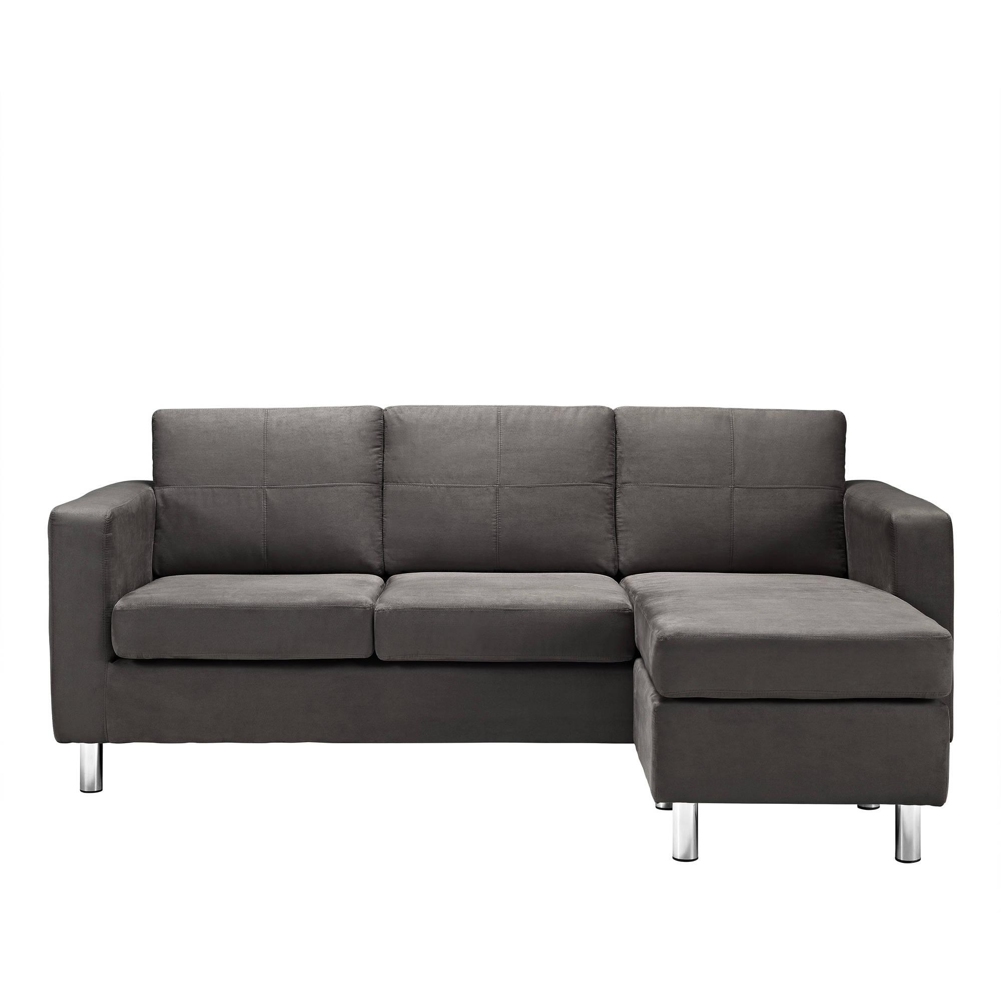 Dorel Living Small Spaces Configurable Sectional Sofa, Multiple Within Sectional Small Space (Image 8 of 20)