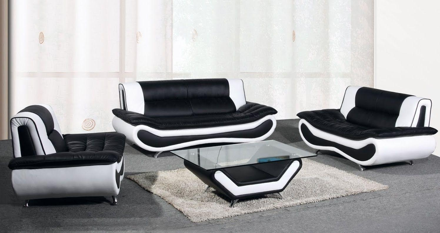 Download Innovational Ideas Black And White Leather Sofa Set With Regard To Black And White Leather Sofas (Image 12 of 20)