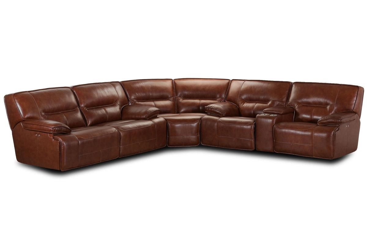 Drake Leather Power Reclining Sectional With Serta Sectional (Image 11 of 20)