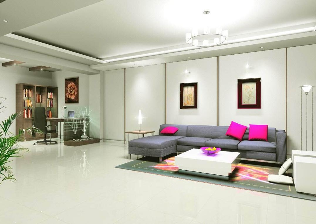 Drawing Room Design Application For Living Room Living Room In Corner Sofa And Swivel Chairs (Image 12 of 20)