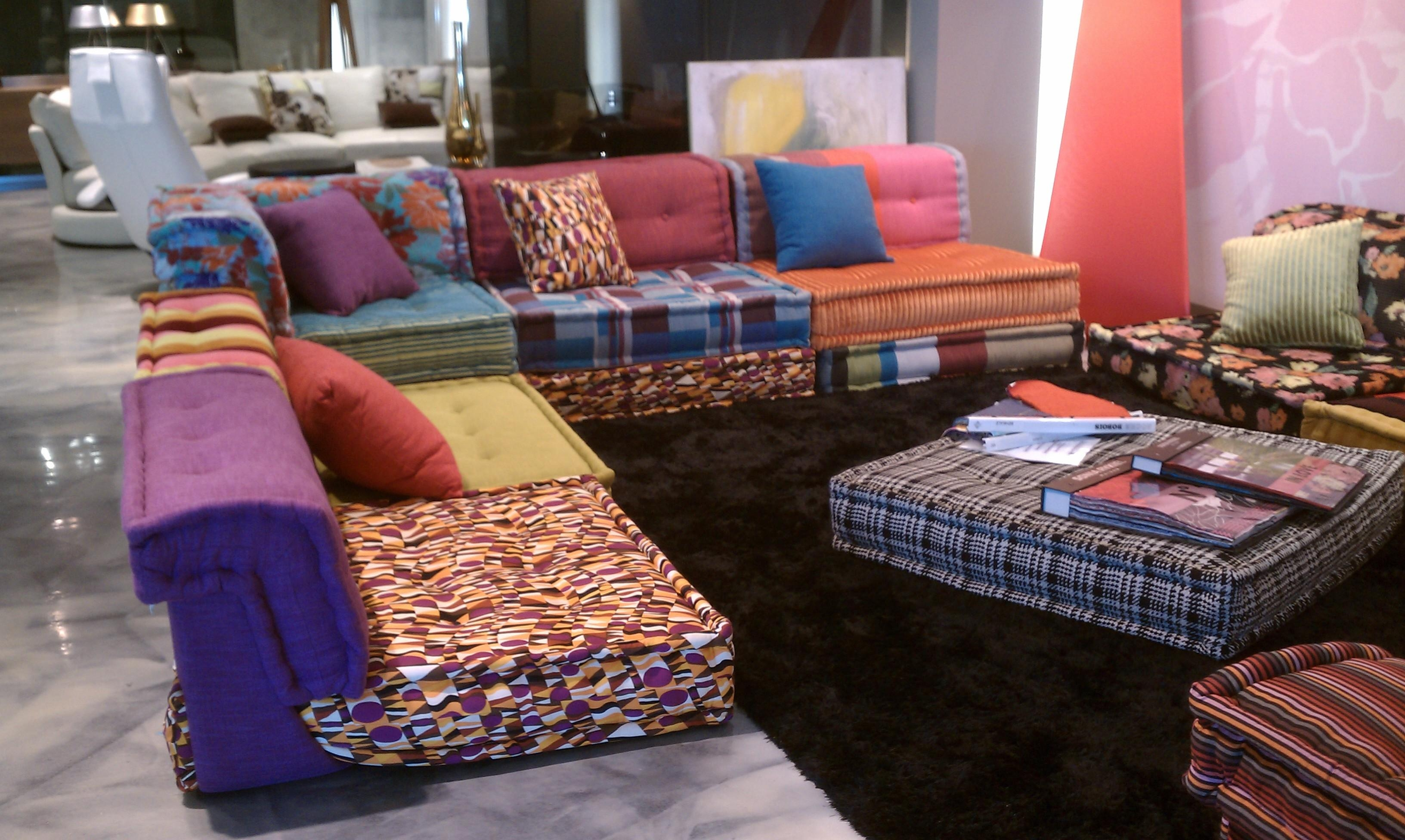 Dream Couch: Missoni Bohemian Sofa | The Cherie Bomb Inside Roche Bobois Mah Jong Sofas (View 15 of 20)