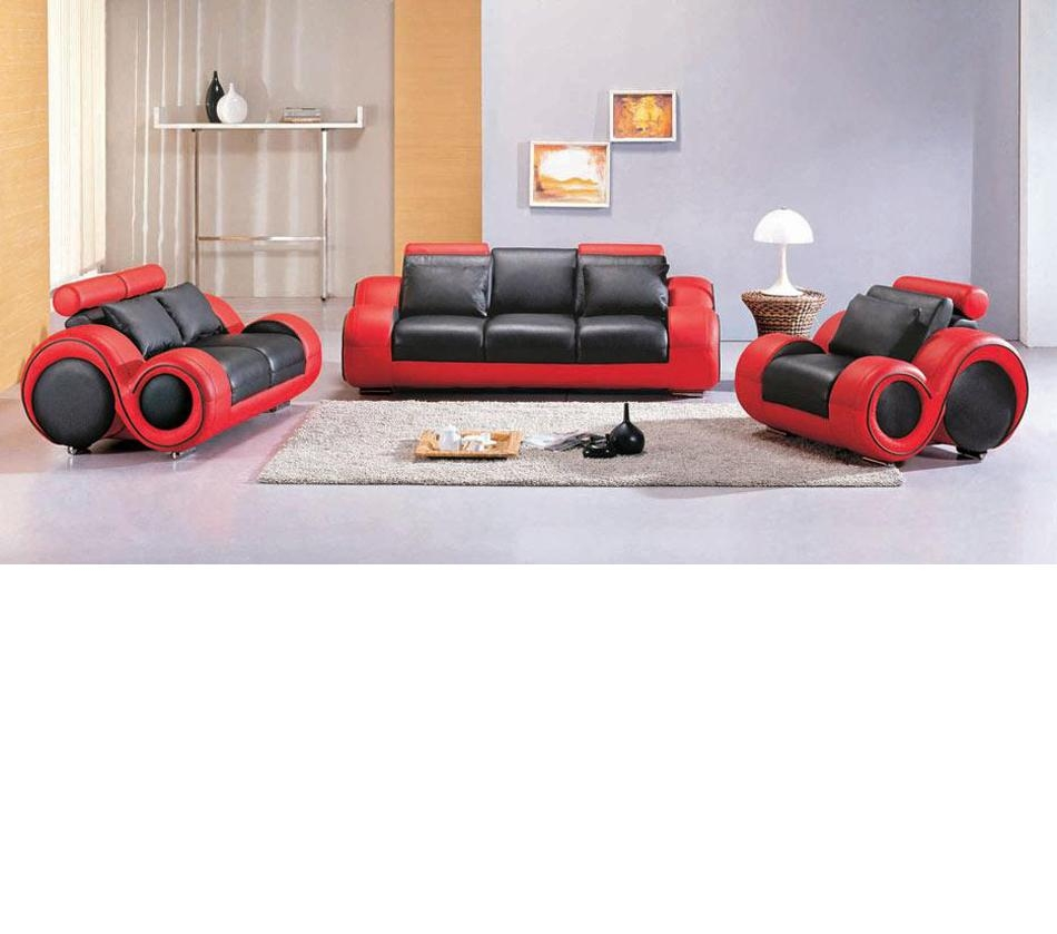 Dreamfurniture – 4088 – Contemporary Black And Red Sofa Set Intended For Black And Red Sofa Sets (Image 7 of 20)