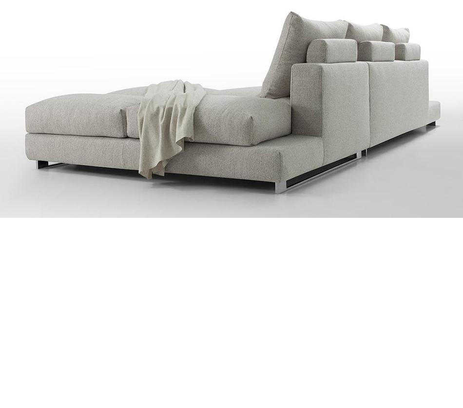 Dreamfurniture – Divani Casa Vasto – Modern Fabric Sectional Intended For Down Feather Sectional Sofa (Image 3 of 15)