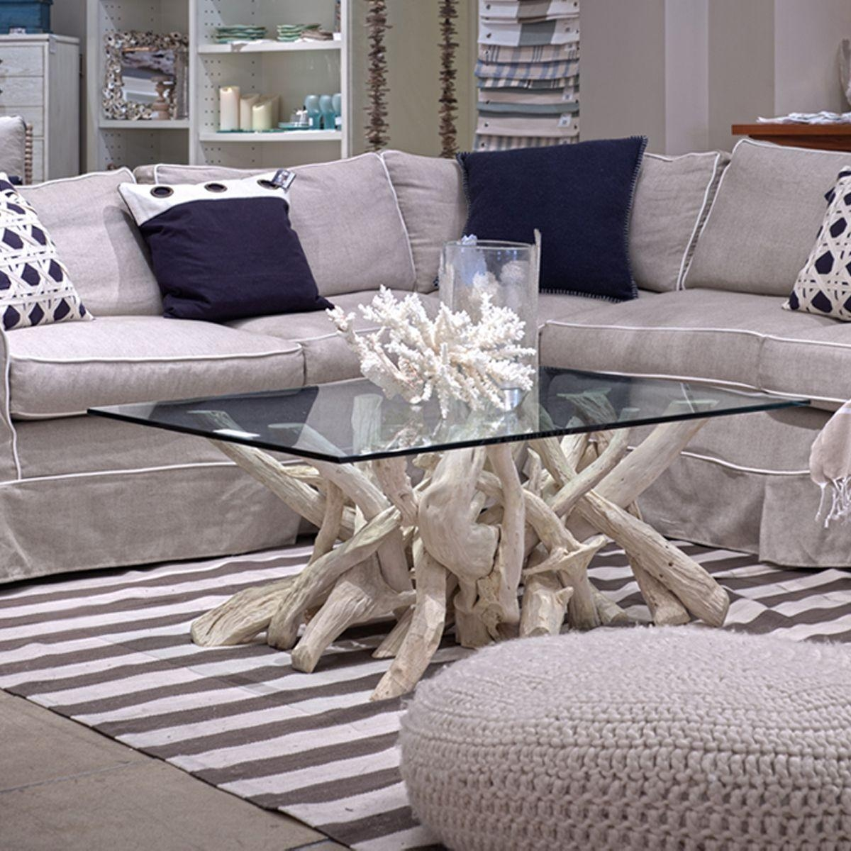 Driftwood Sofa Table   Decorative Table Decoration Regarding Crate And Barrel Sofa Tables (Image 19 of 20)