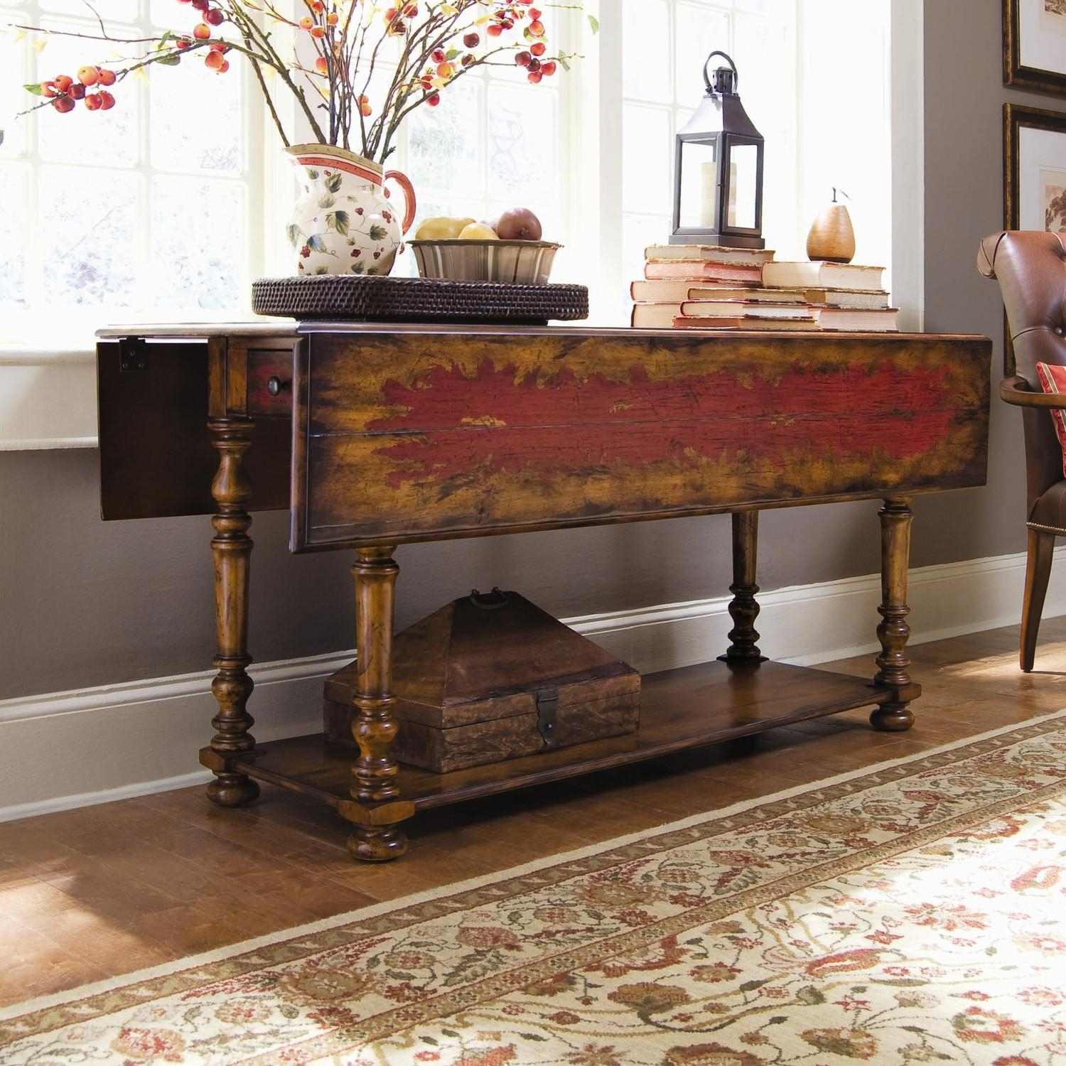 Drop Leaf Sofa Table: Large Or Space Effective Do You Need With Shabby Chic Sofa Tables (View 18 of 20)