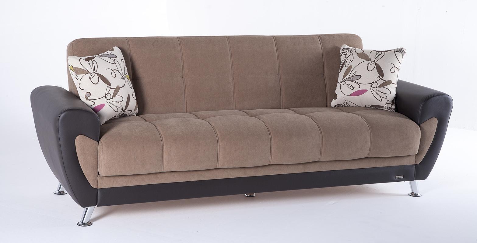 Duru Optimum Brown Convertible Sofa Bedsunset Regarding Sofa Bed Chairs (Image 5 of 20)