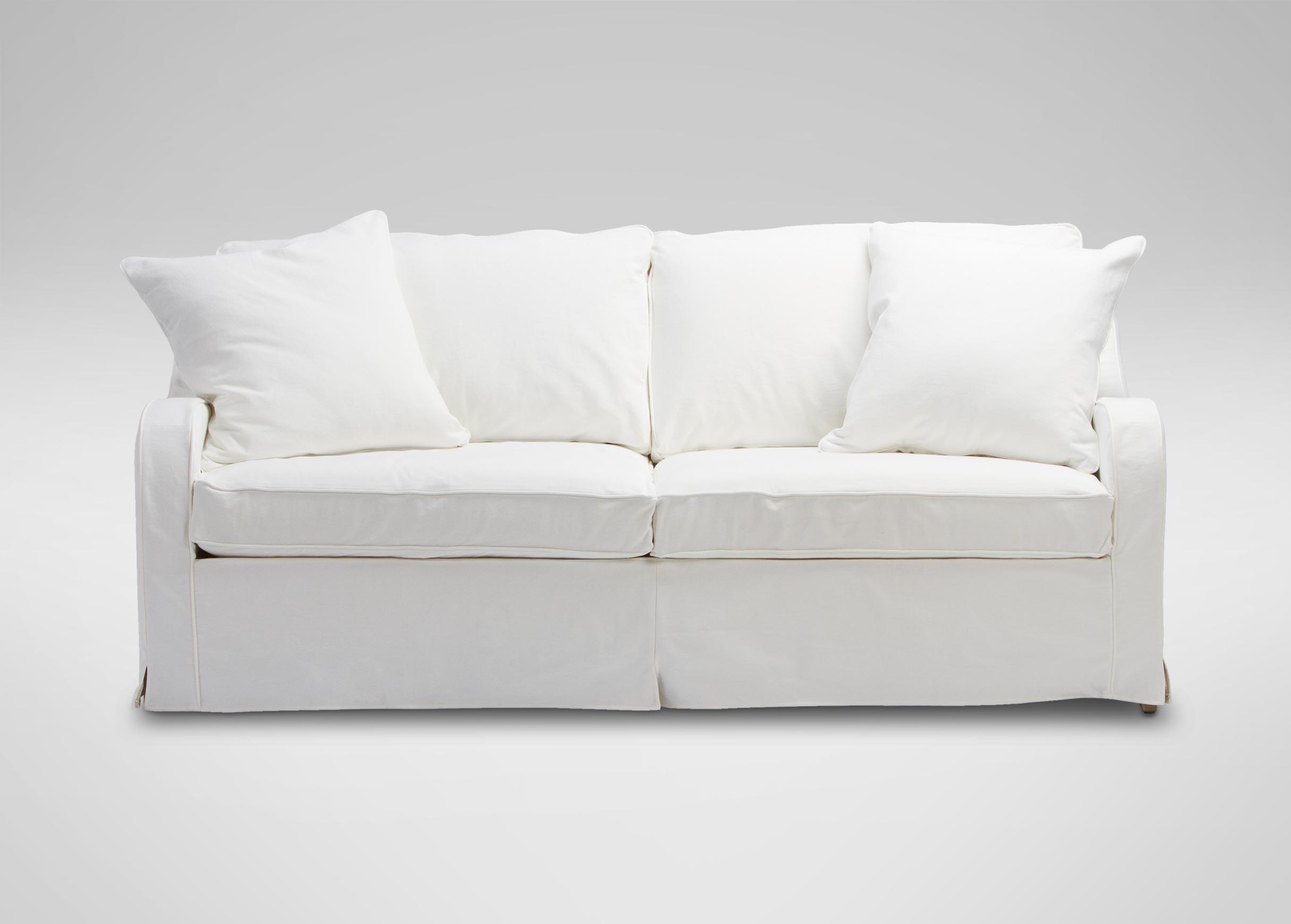 Dylan Slipcovered Sofa | Sofas & Loveseats Inside Allen White Sofas (View 2 of 20)