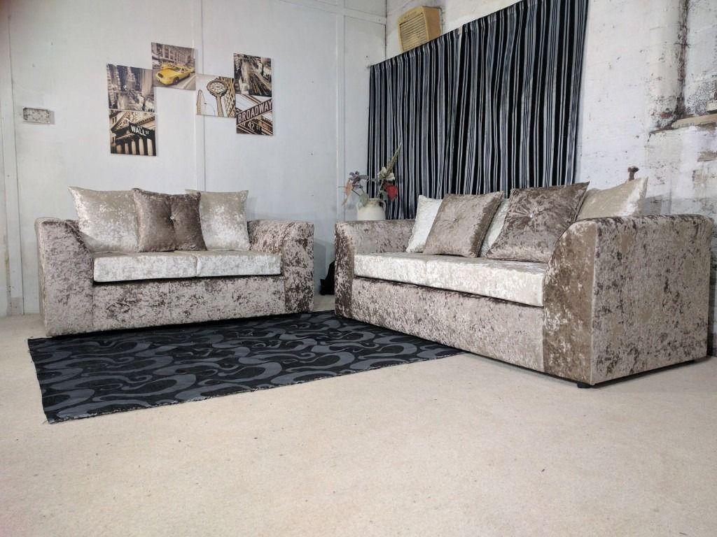 Dylan Velvet Brown/mink 3+2 Or Corner Sofa Or Swivel Chair | 1 Intended For Corner Sofa And Swivel Chairs (View 17 of 20)