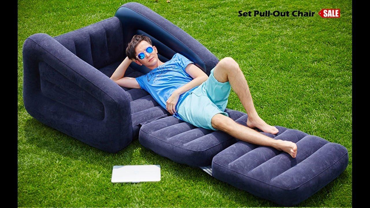 รวมรีวิว] โซฟาเป่าลม Intex รุ่น Pull Out Chair รหัส 68565 จากผู้ Intended For Intex Pull Out Chairs (Image 20 of 20)
