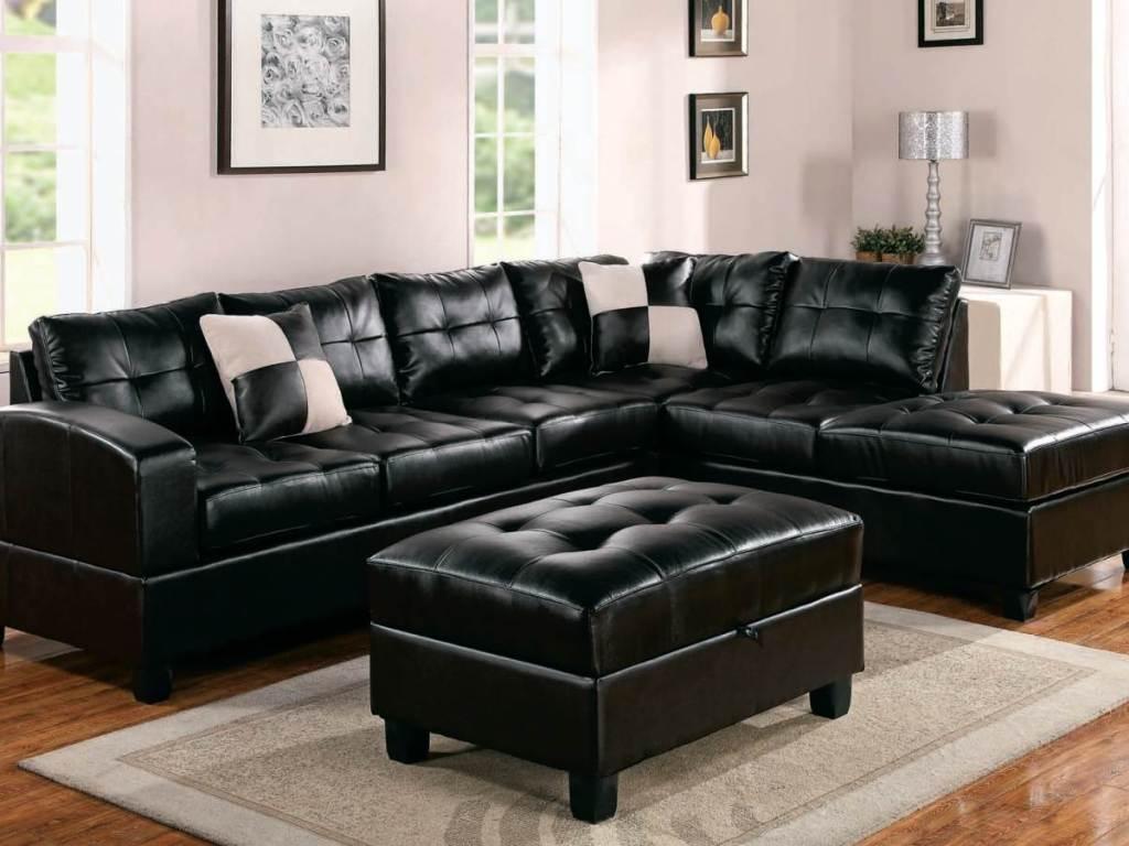 ▻ Furniture : 57 Elegant Black Leather Lazy Boy Sectionals With With Lazy Boy Leather Sectional (View 12 of 20)