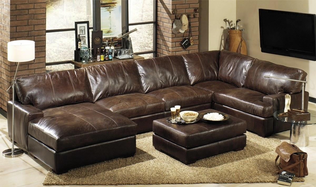 ▻ Furniture : Oversized Leather Sectional Sofa How To Take A Within Oversized Sectional Sofa (Image 1 of 20)