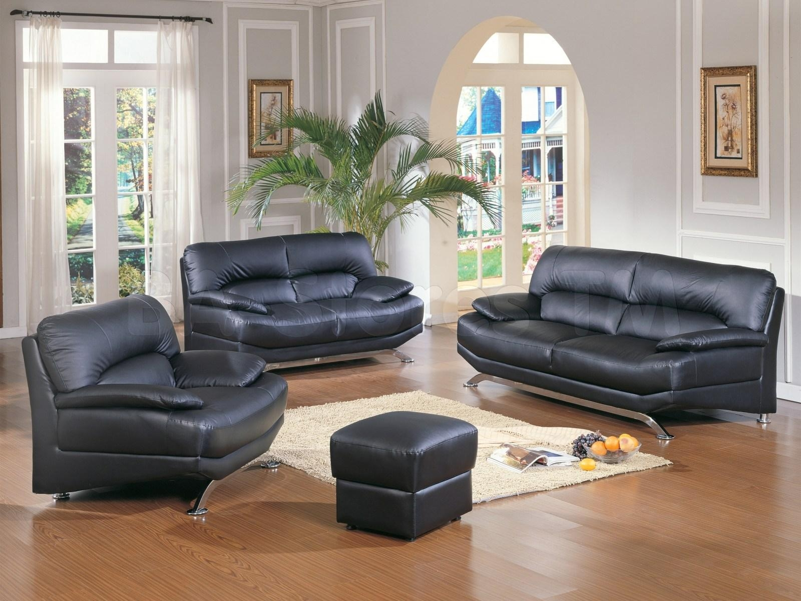 ▻ Sofa : 1 Wonderful Black Leather Sofa Living Room Ideas Sath19 With Regard To Black Sofas For Living Room (Image 1 of 20)