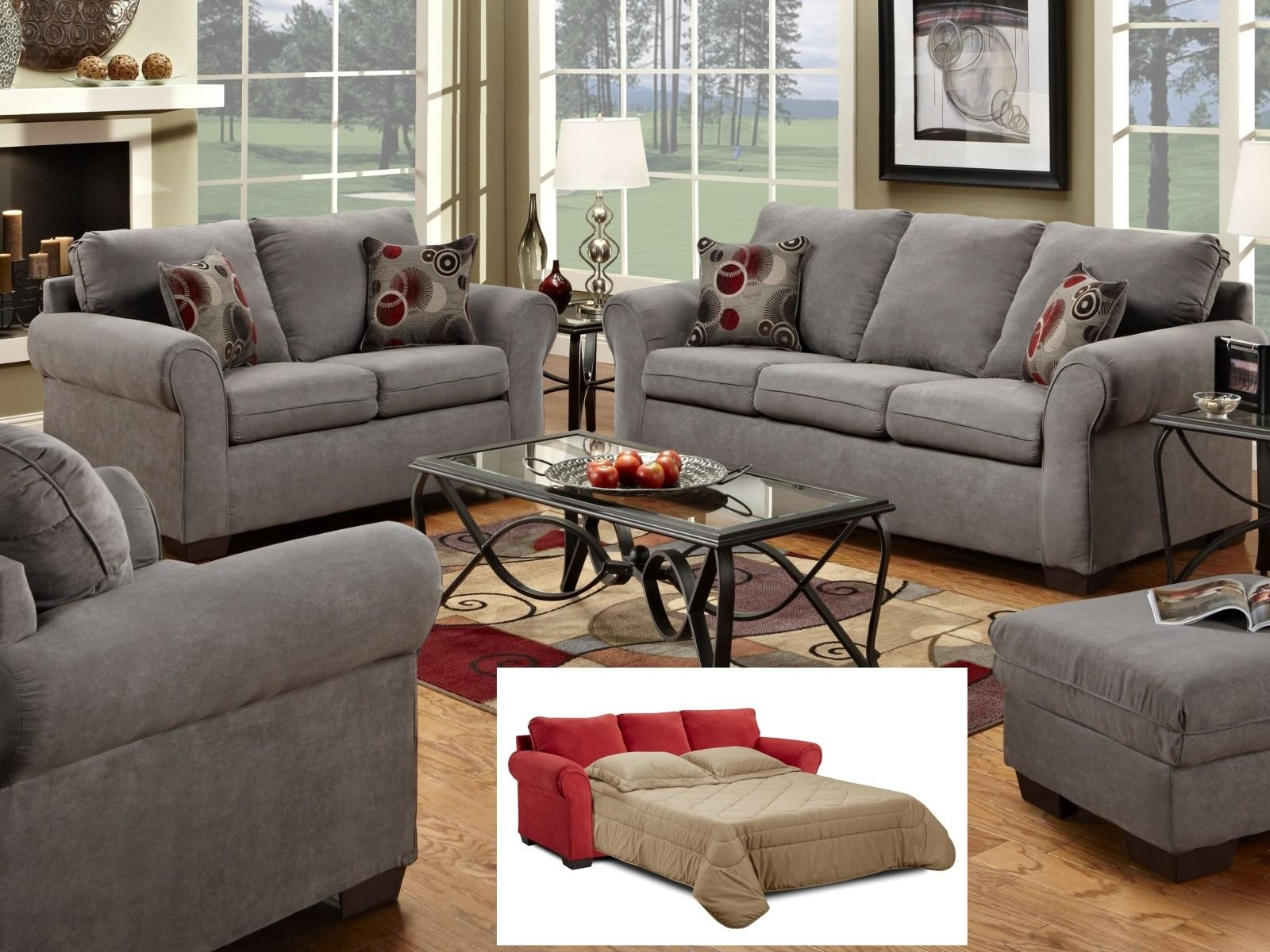 ▻ Sofa : 18 Wonderful Grey Sofa Sets1640 Graphite Gray Sofa Set With Gray Sofas For Living Room (Image 1 of 20)