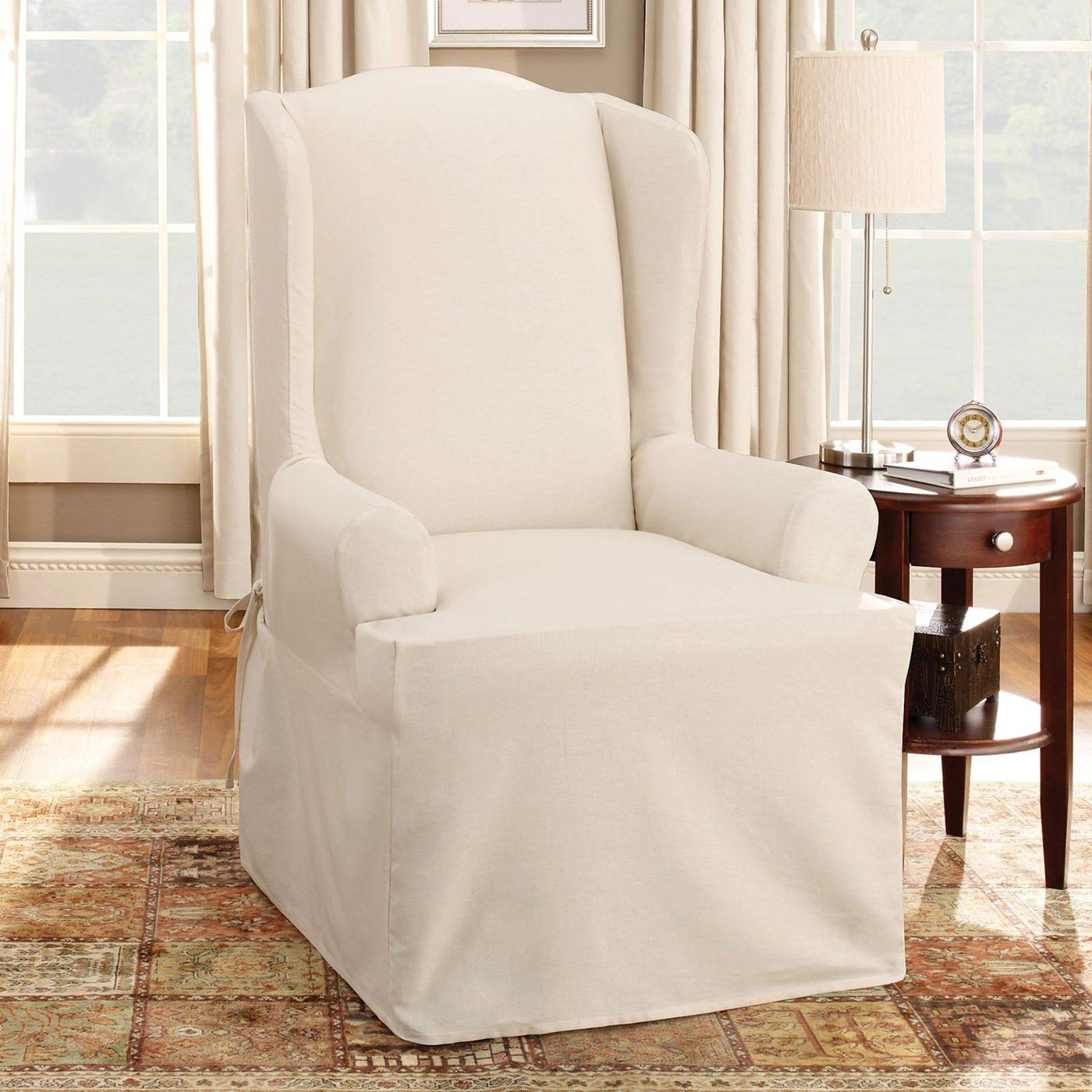 ▻ Sofa : 23 Luxury Wingback Charir Slipcover Design With Matching intended for Sofa and Chair Slipcovers