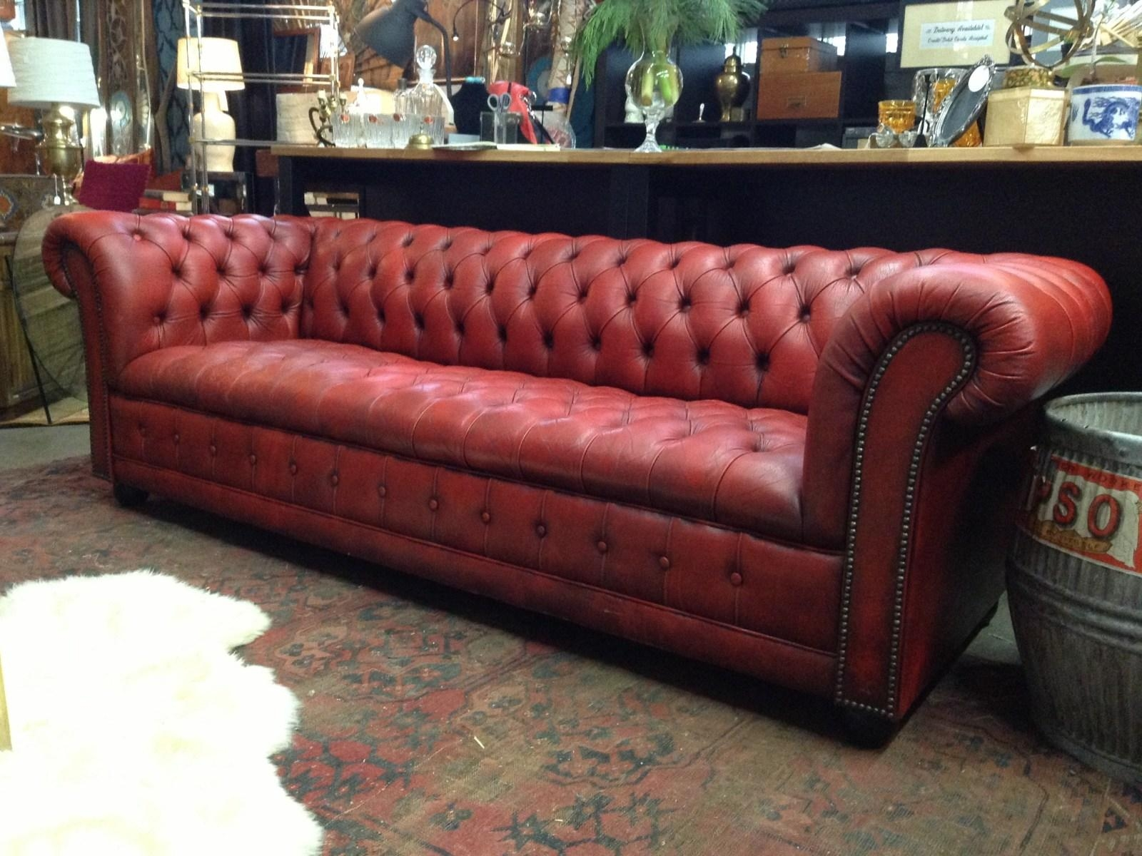 ▻ Sofa : 33 Interior Long Red Leather Sectional Sofa With Back Intended For Red Leather Chesterfield Chairs (Image 1 of 20)