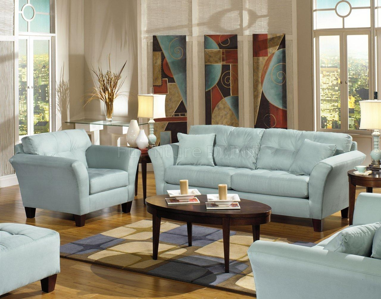 ▻ Sofa : 34 Living Room Living Room Sets For Sale Wonderful Within Sky Blue Sofas (Image 1 of 20)