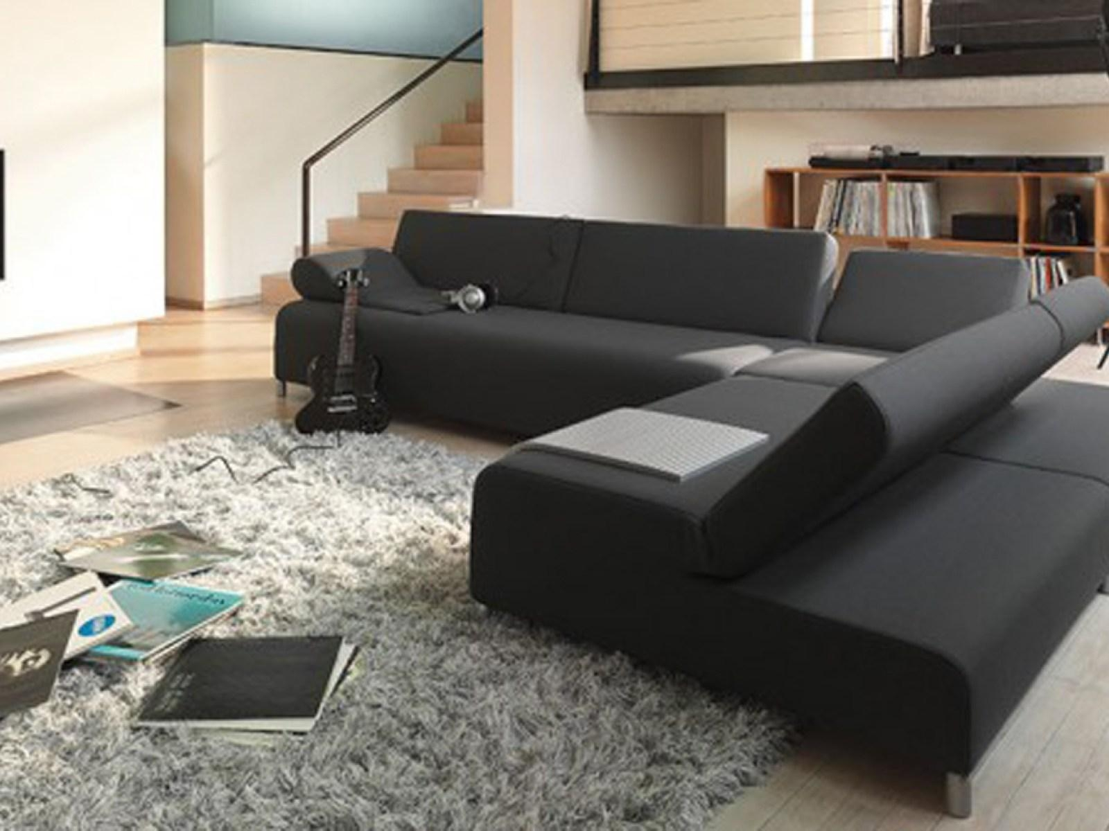 ▻ Sofa : 5 Wonderful Black Sofa Wonderful Black Sofa Living Room Throughout Black Sofas For Living Room (Image 2 of 20)