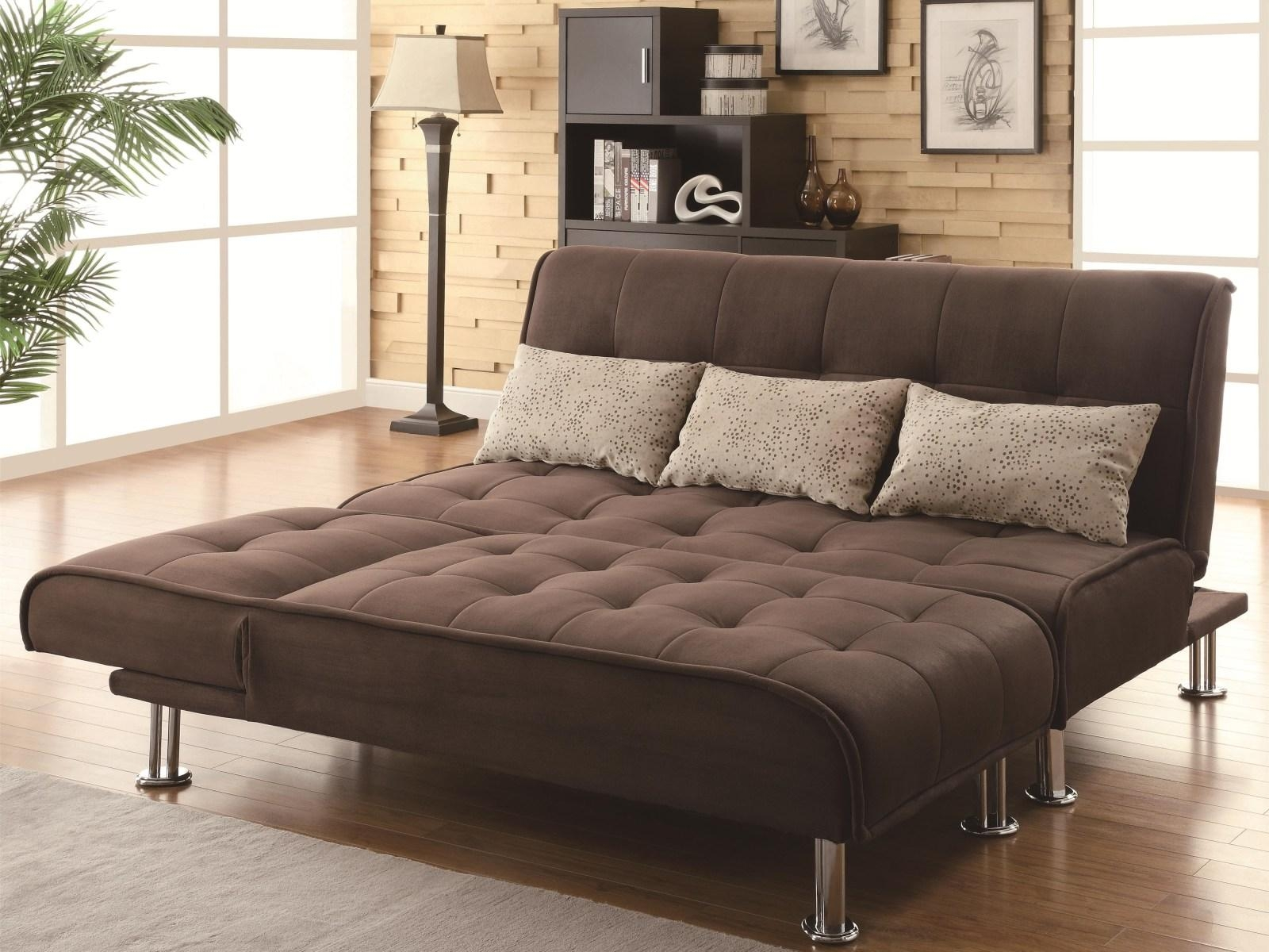 ▻ Sofa : 5 Wonderful Queen Size Couch Bed Dark Brown Color Regarding Sofa Sleepers Queen Size (Image 2 of 20)