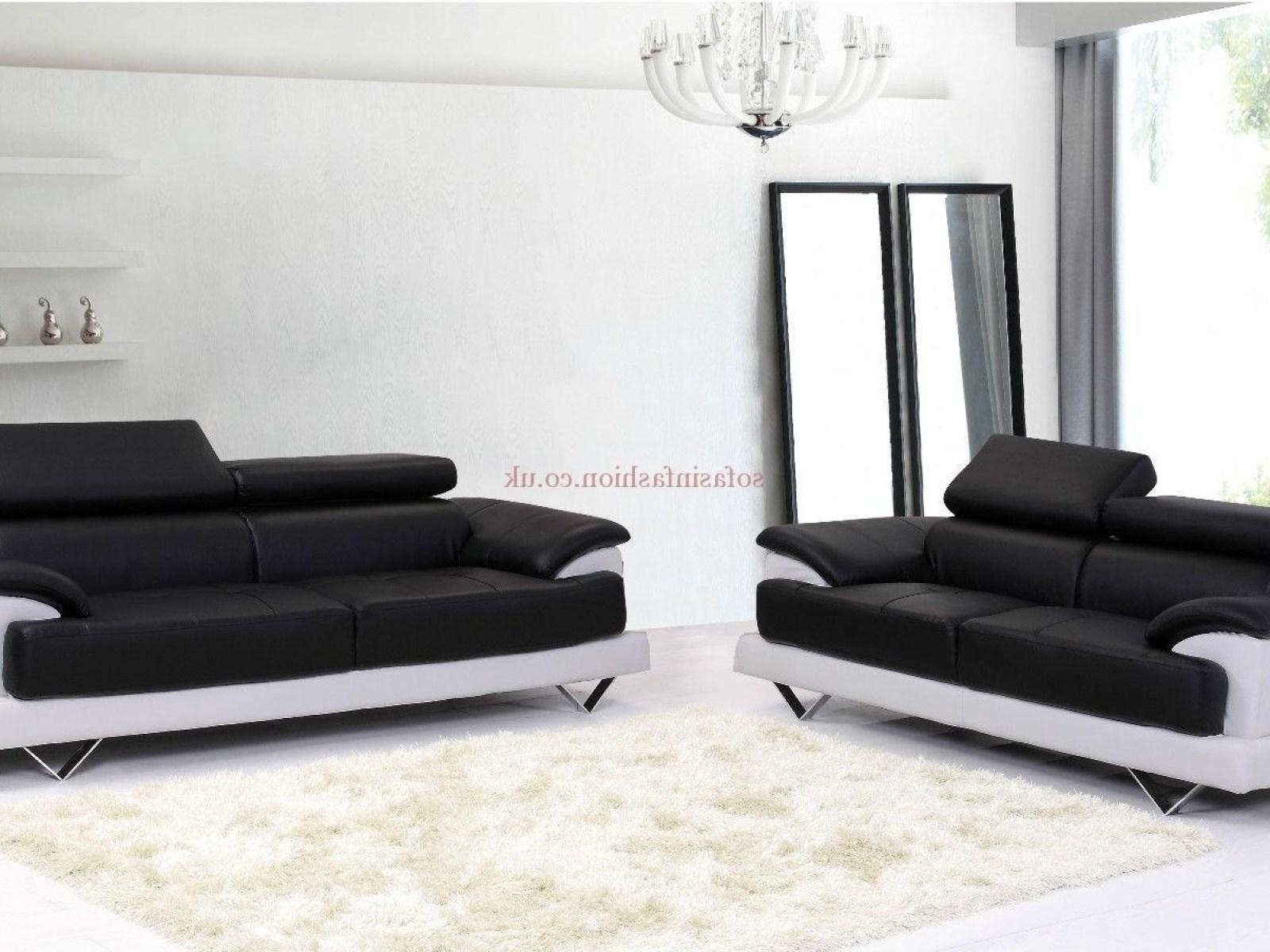 ▻ Sofa : 8 Leather Sofa Set Black And White Cosmo Sofas In Regarding Black And White Sofas (View 11 of 20)