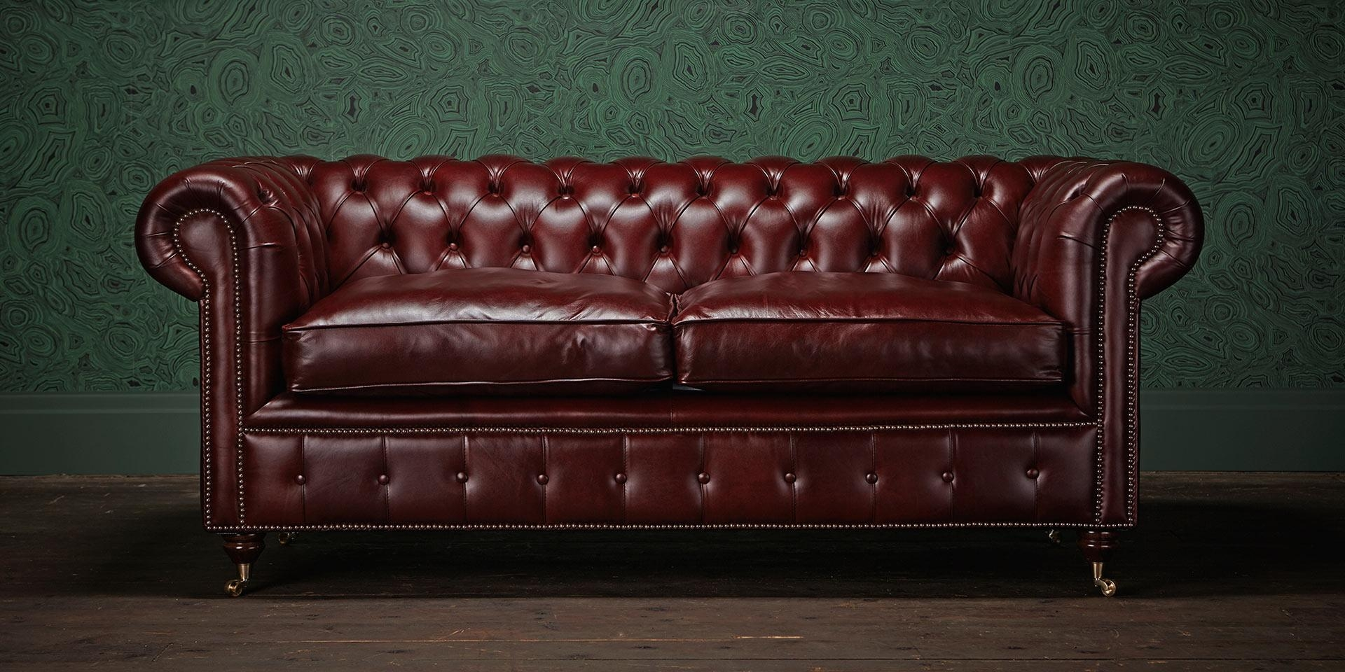 ▻ Sofa : 8 Serene Chesterfield Lear With Chesterfield Lear Sofa Inside Red Chesterfield Sofas (Image 1 of 20)