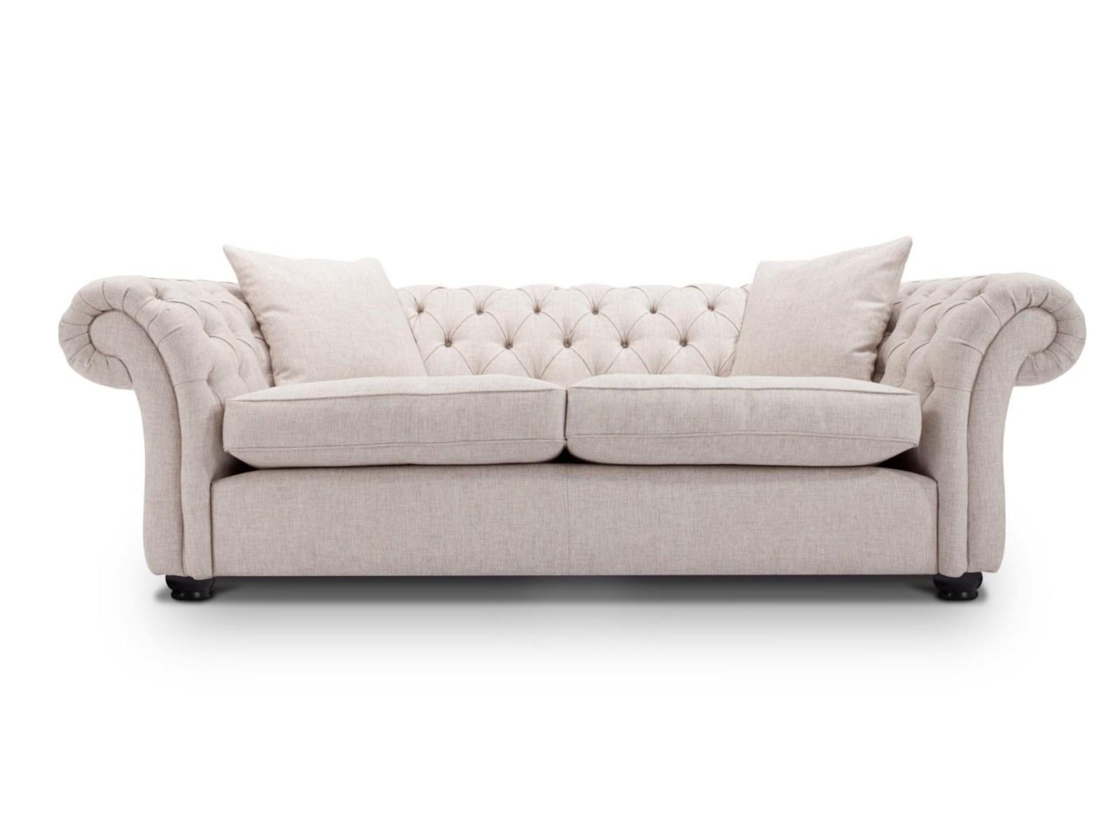 ☆▻ Sofa : 4 Lovely Chesterfield Sofa In Square As Gorgeous Black Pertaining To Tufted Leather Chesterfield Sofas (Image 2 of 20)