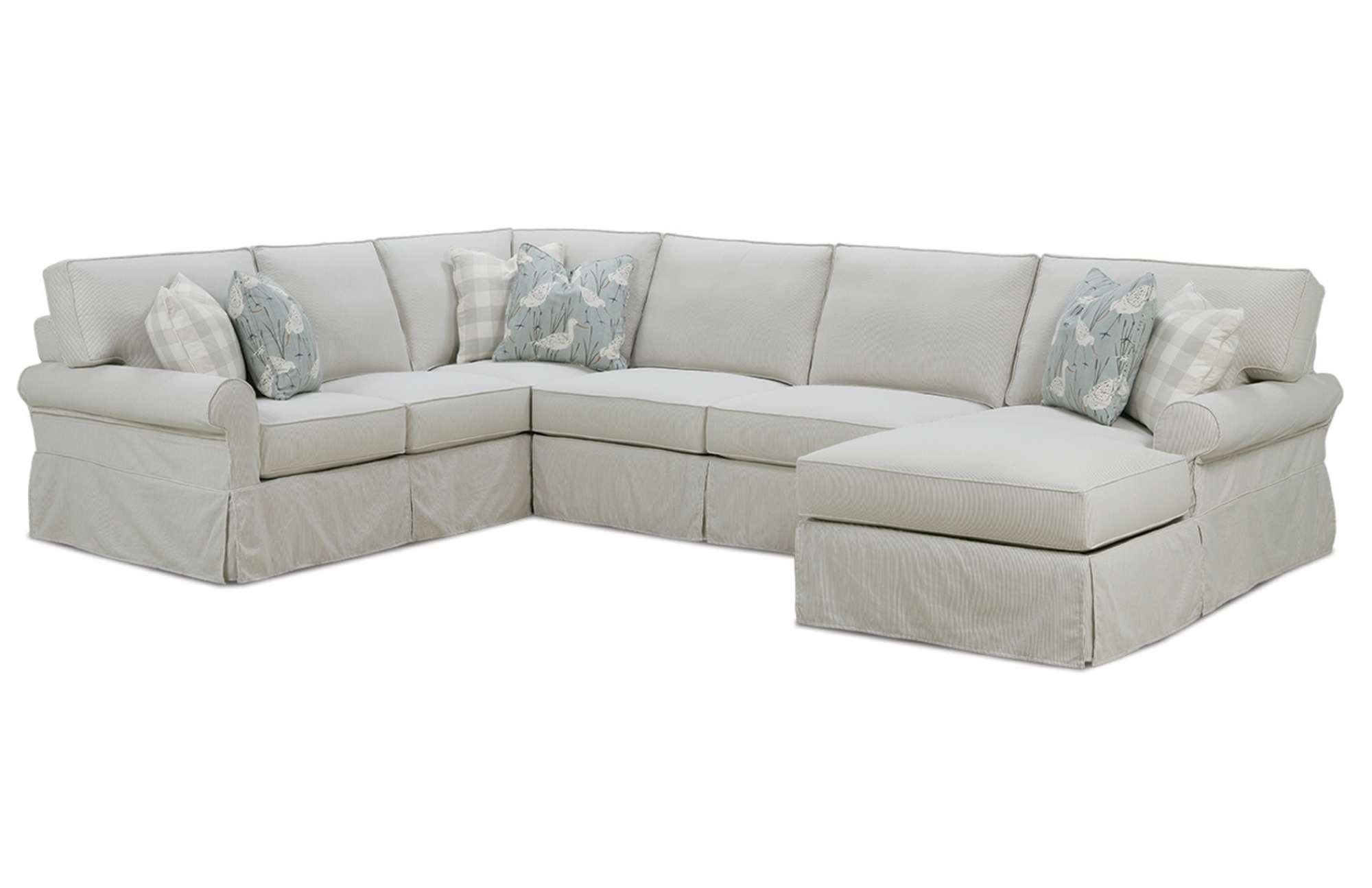 Easton Slipcover Sectionalrowe Furniture Throughout Rowe Sectional Sofas (Image 4 of 20)