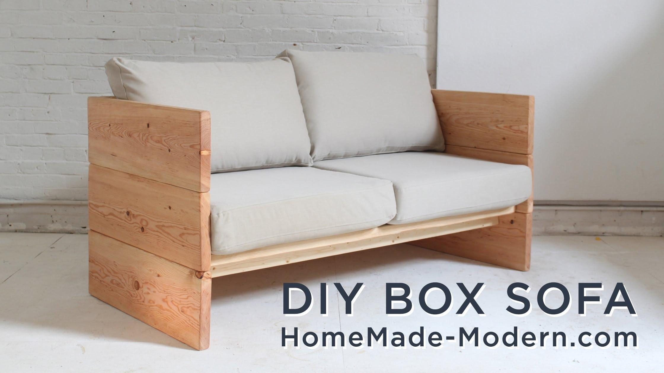 Easy Wood Bench Plans Diy Daybed To Build Pics On Charming Simple Regarding Diy Sectional Sofa Frame Plans (View 10 of 15)