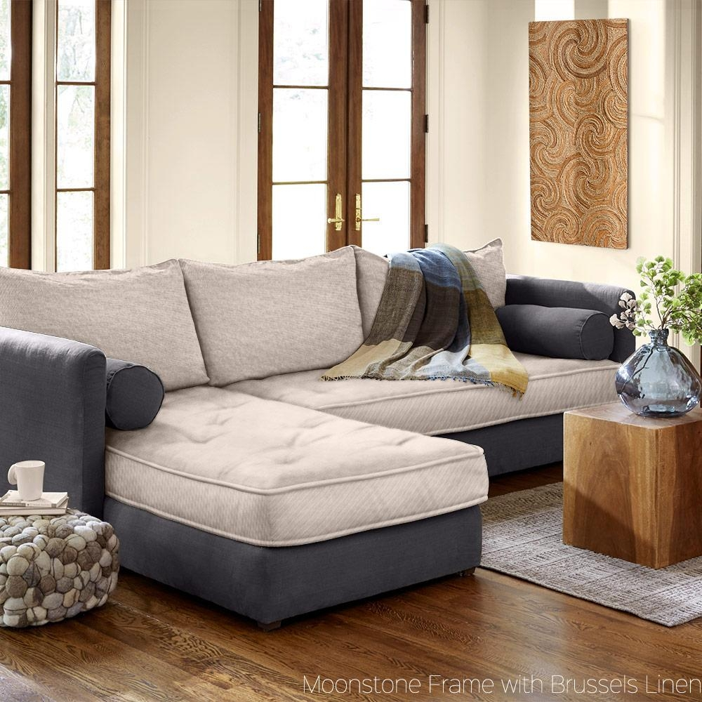 Eco Linen Sectional Sleeper Sofa With Chaise Lounge | Vivaterra For Eco Friendly Sectional Sofa (Image 4 of 15)