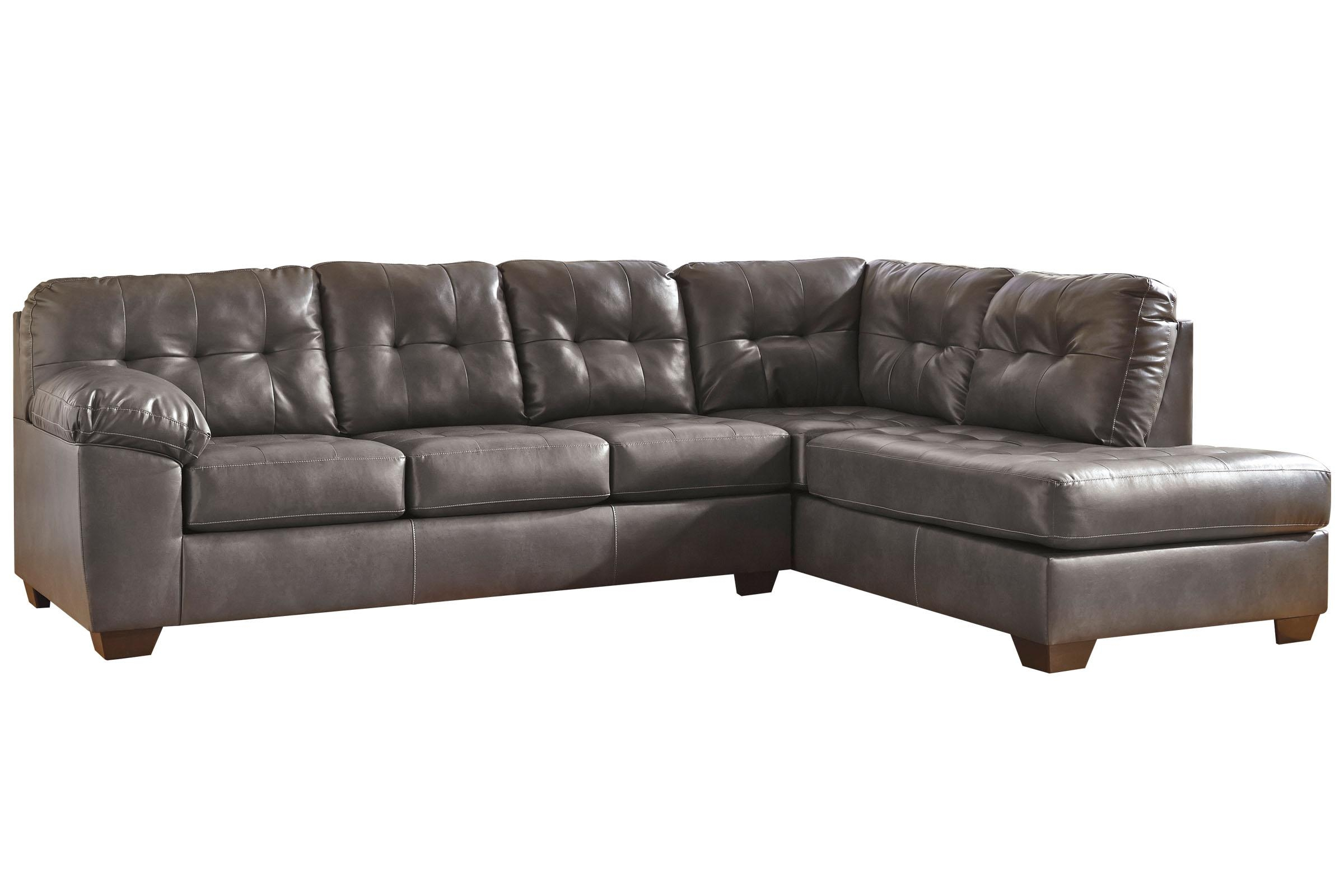 Edison Bonded Leather Sectional Throughout Leather And Chenille Sectional (Image 6 of 20)