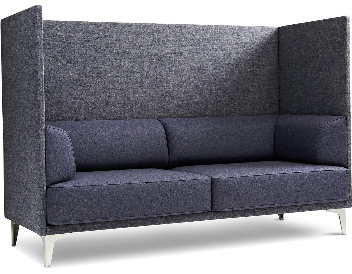 Ej400 Apoluna Box High Back 2 Seat Sofa – Hivemodern Pertaining To High Back Sofas And Chairs (Image 5 of 20)