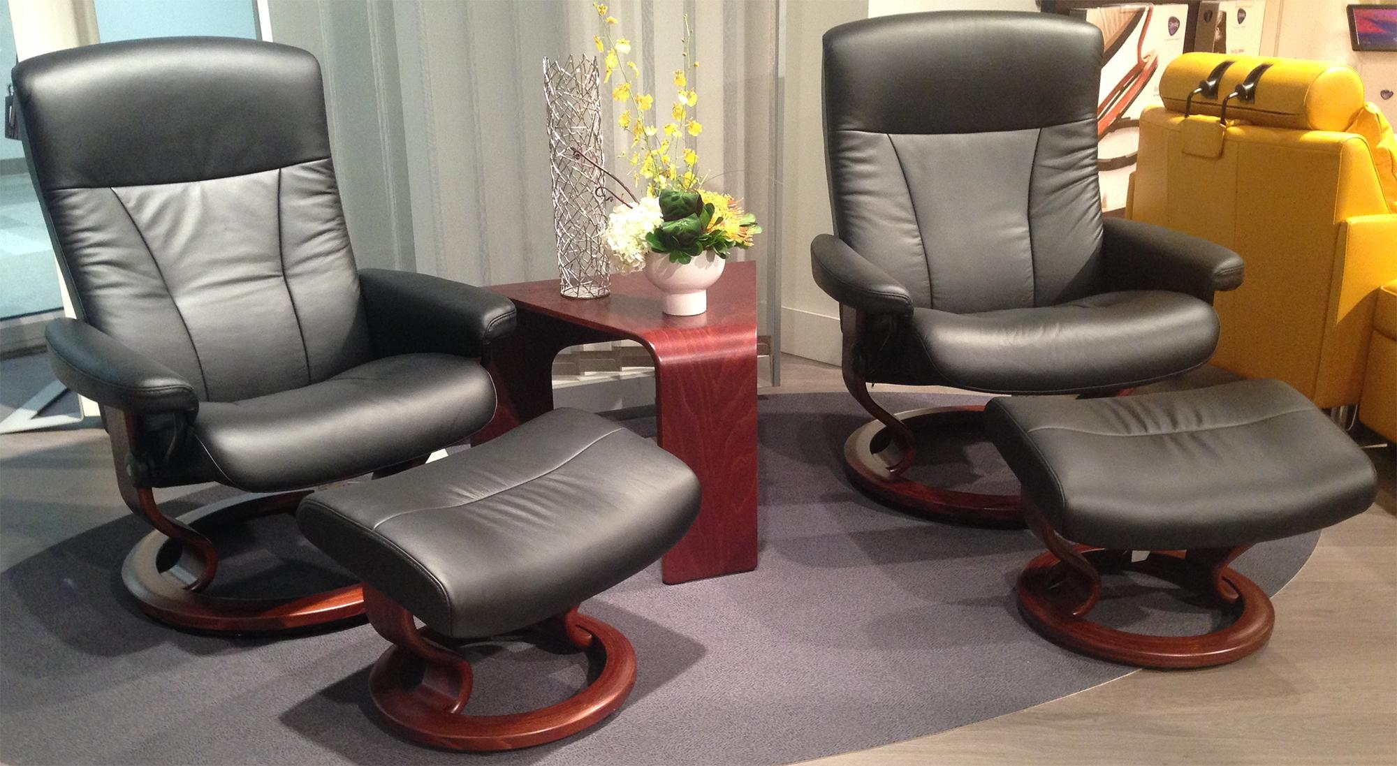Ekornes Stressless President Large And Medium Recliner Chair Inside Ergonomic Sofas And Chairs (Image 8 of 20)