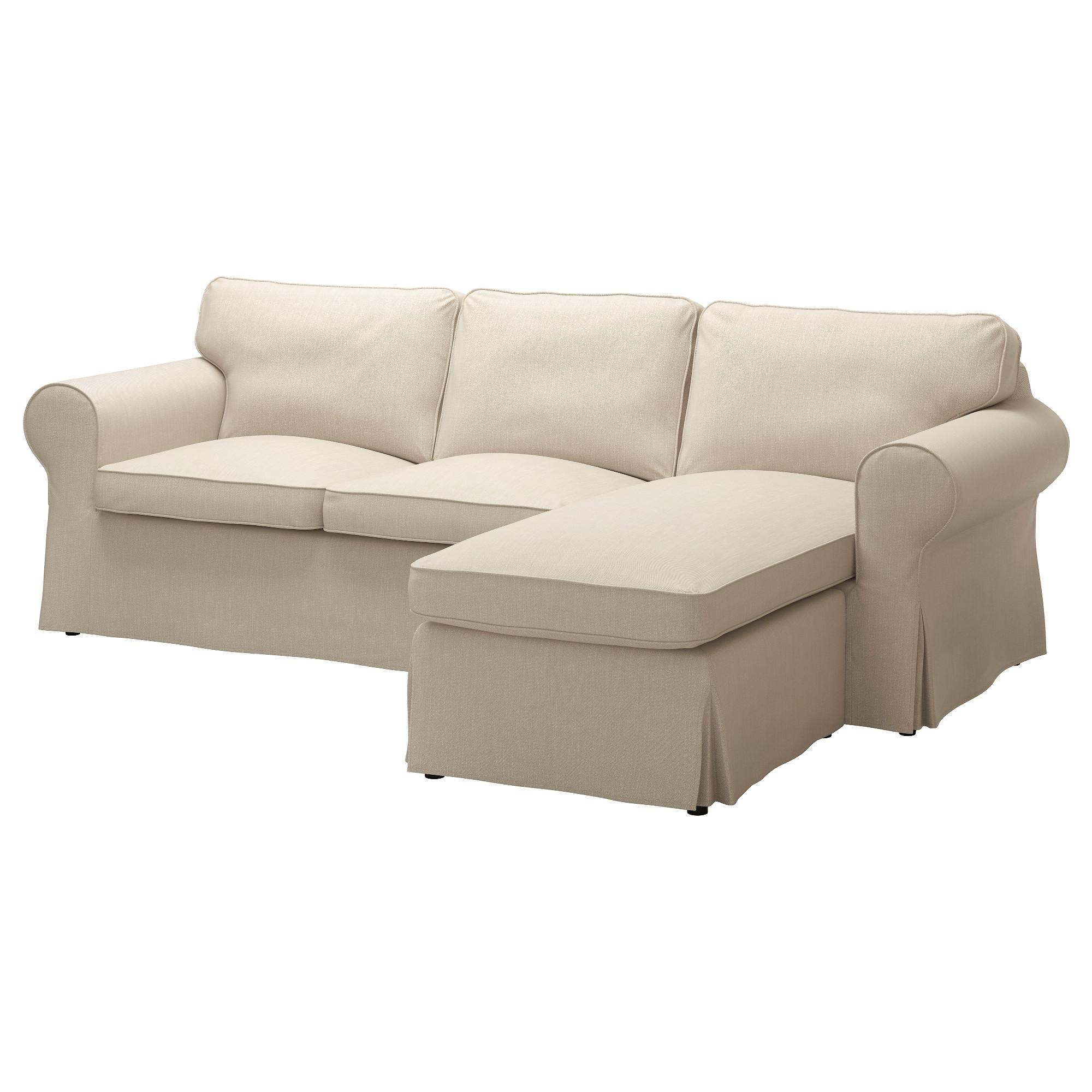 Ektorp Two Seat Sofa And Chaise Longue Nordvalla Dark Beige – Ikea Regarding Ikea Two Seater Sofas (View 15 of 20)