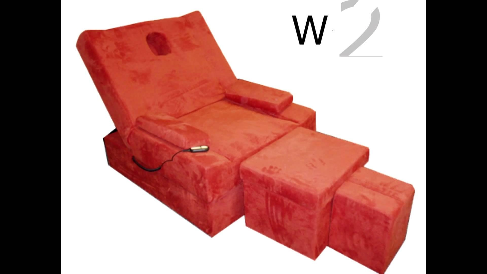 Electric Foot Massage Sofa Set 电动足浴沙发 Youtube Intended For Foot Massage Sofa Chairs (View 5 of 20)