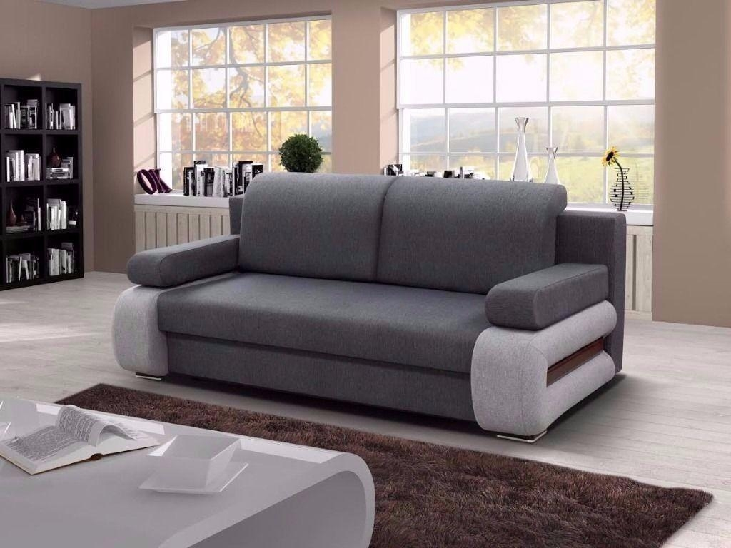Elegant Design, Brand New !!leather & Fabric Sofa Bed With Storage Regarding Sofa Beds With Storage Underneath (Image 4 of 20)