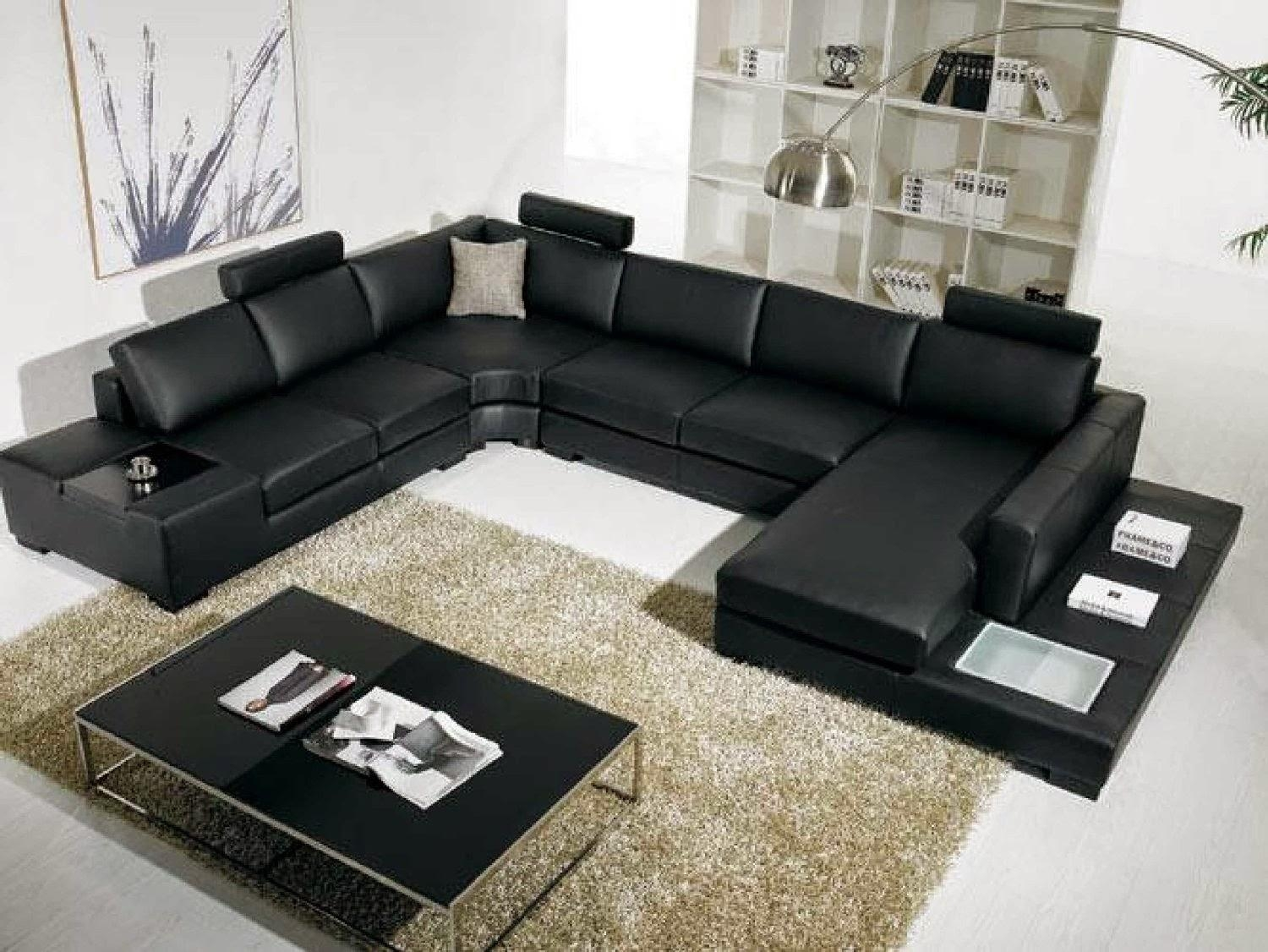 Elegant Leather Sectional Sofas On Sale 37 On Giant Sectional Sofa Throughout Giant Sofas (Image 7 of 20)