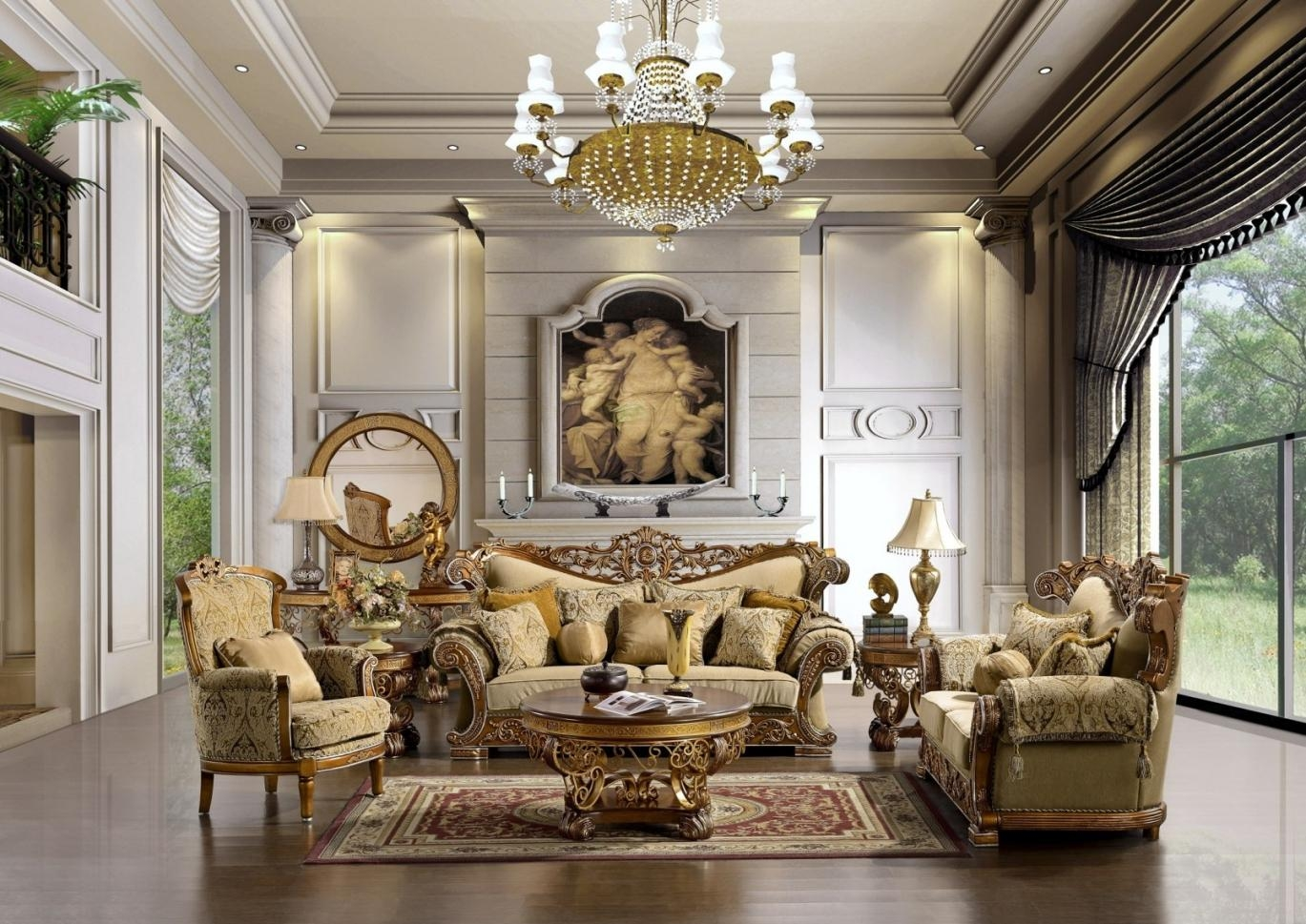 Elegant Living Room Chairs Inside Elegant Sofas And Chairs (Image 12 of 20)