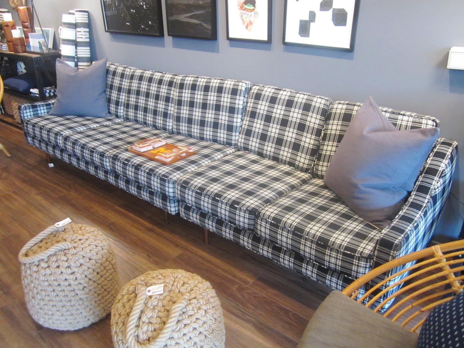 Elegant Plaid Sofa | Cochabamba Pertaining To Blue Plaid Sofas (Image 9 of 20)