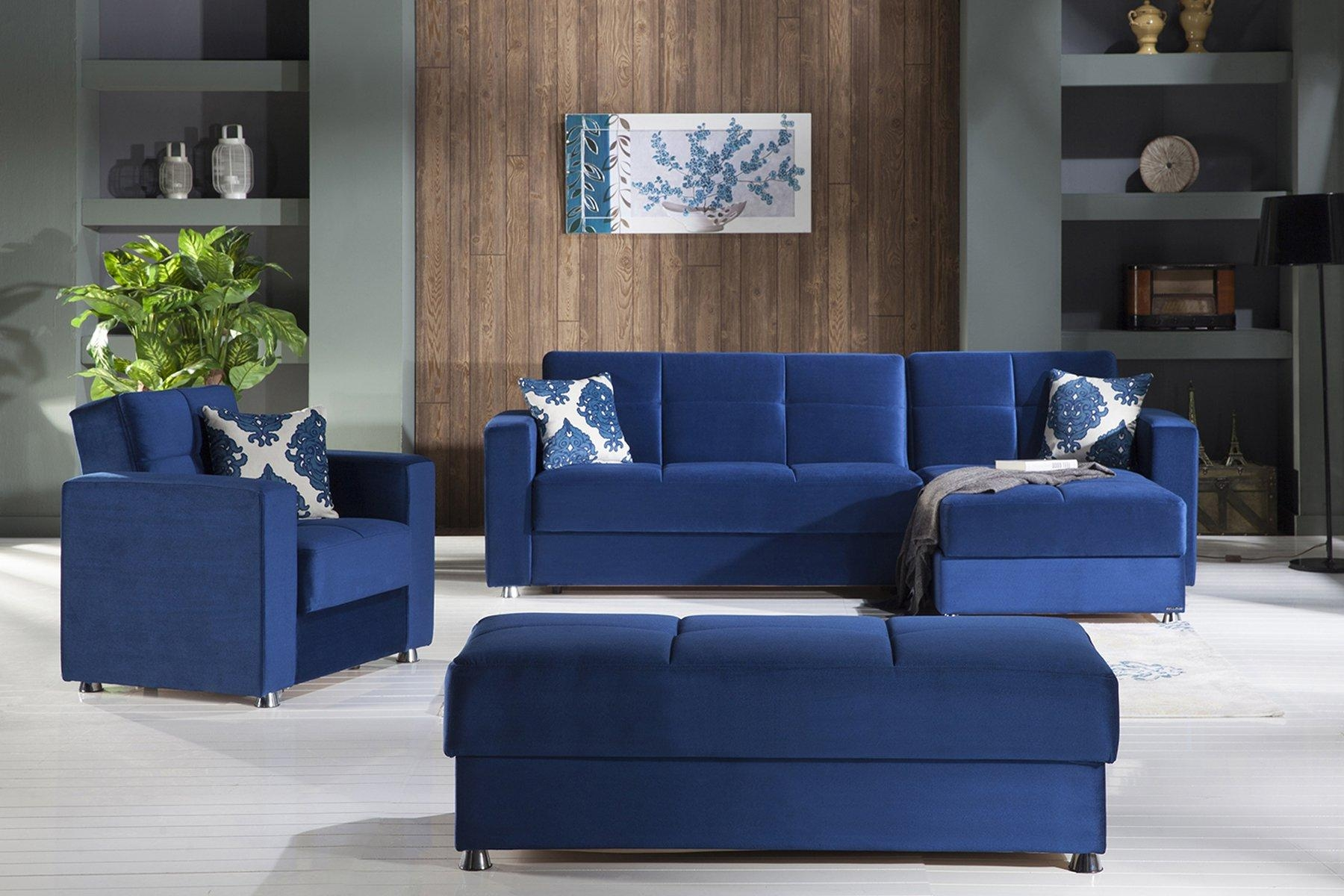 Elegant Roma Navy Sectional Sofasunset Pertaining To Elegant Sectional Sofa (Image 5 of 15)