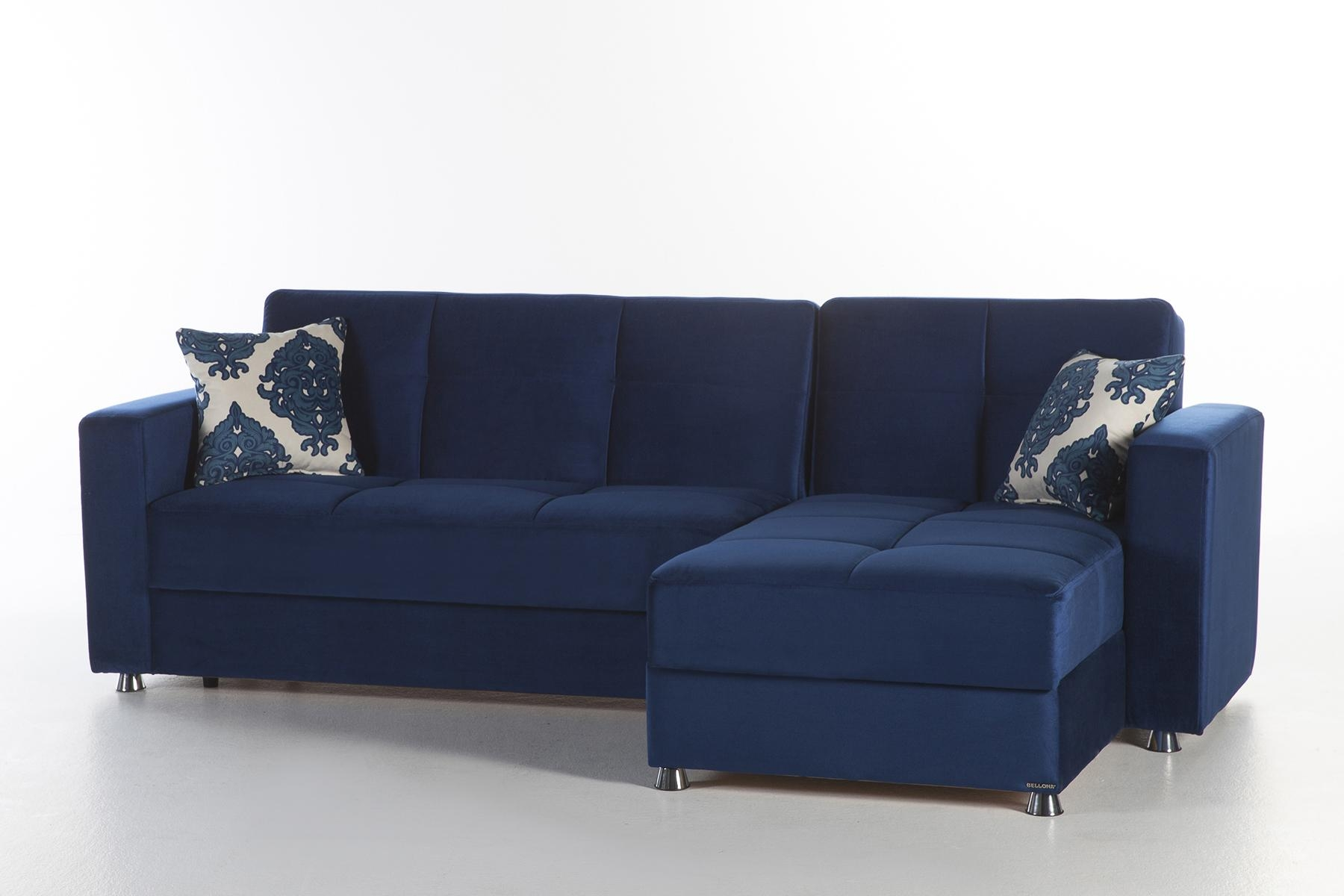 Elegant Roma Navy Sectional Sofasunset Within Elegant Sectional Sofa (Image 7 of 15)