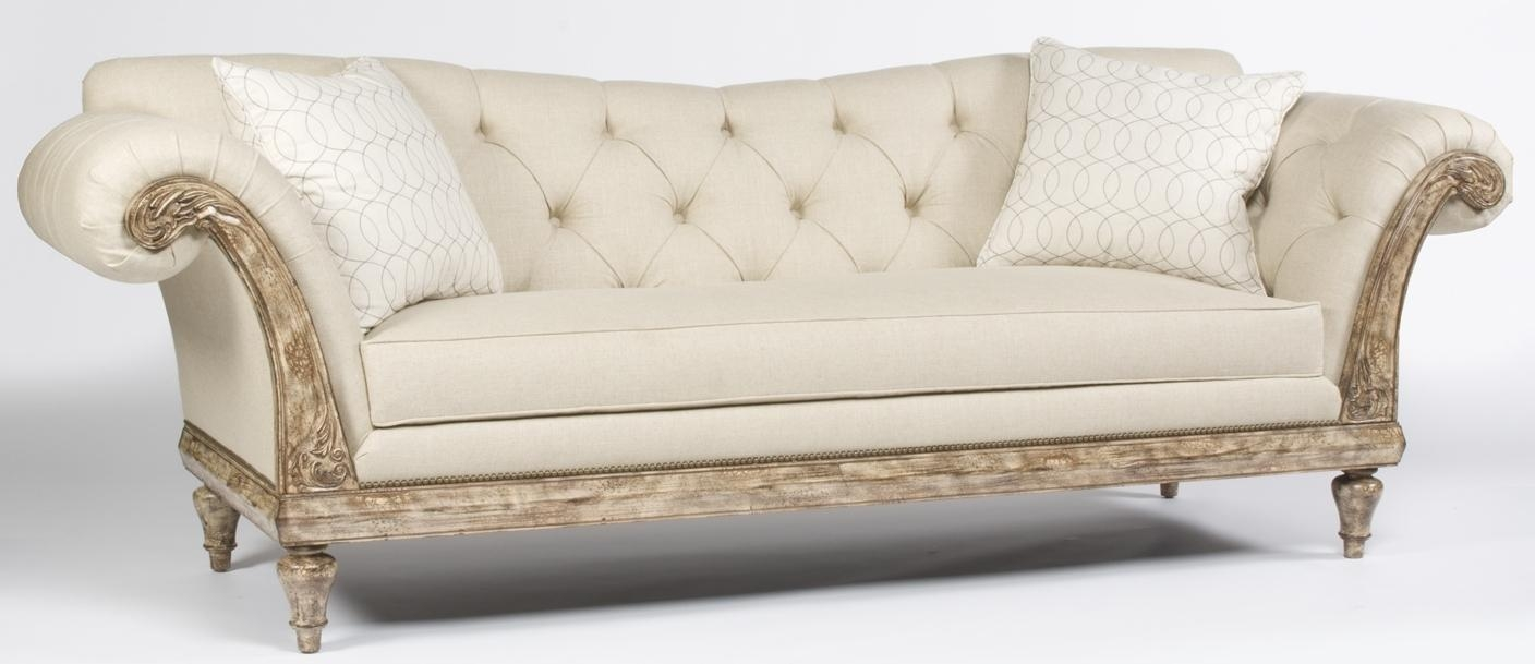 Elegant Tufted Carved Sofa (View 16 of 20)