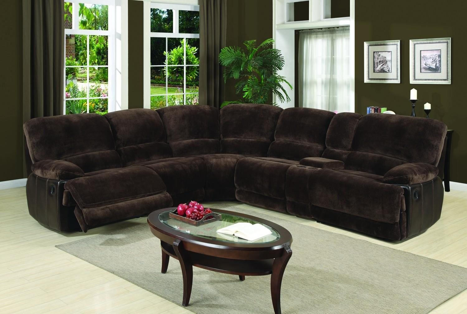 Eli Dark Brown 6 Piece Sectional Sofa For $1, (Image 10 of 20)