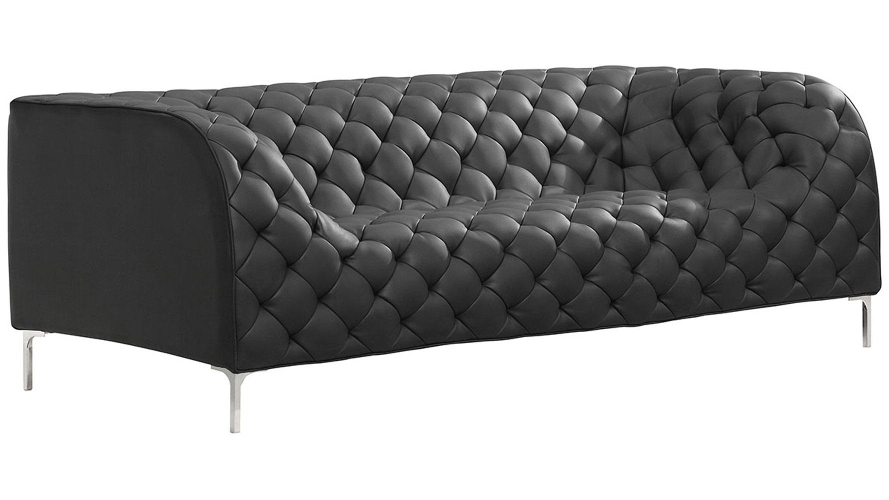 Elijah Sofa | Zuri Furniture With Sofas With Chrome Legs (Image 8 of 20)