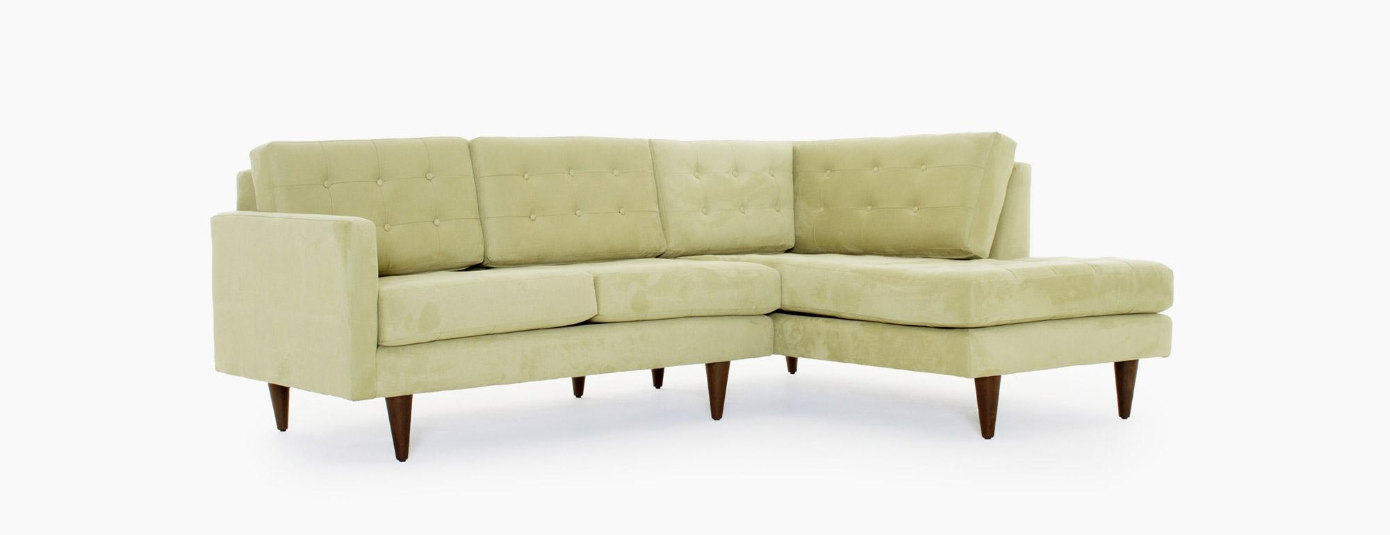 Eliot Apartment Sectional With Bumper | Joybird Intended For Apartment Sectional (Image 11 of 15)