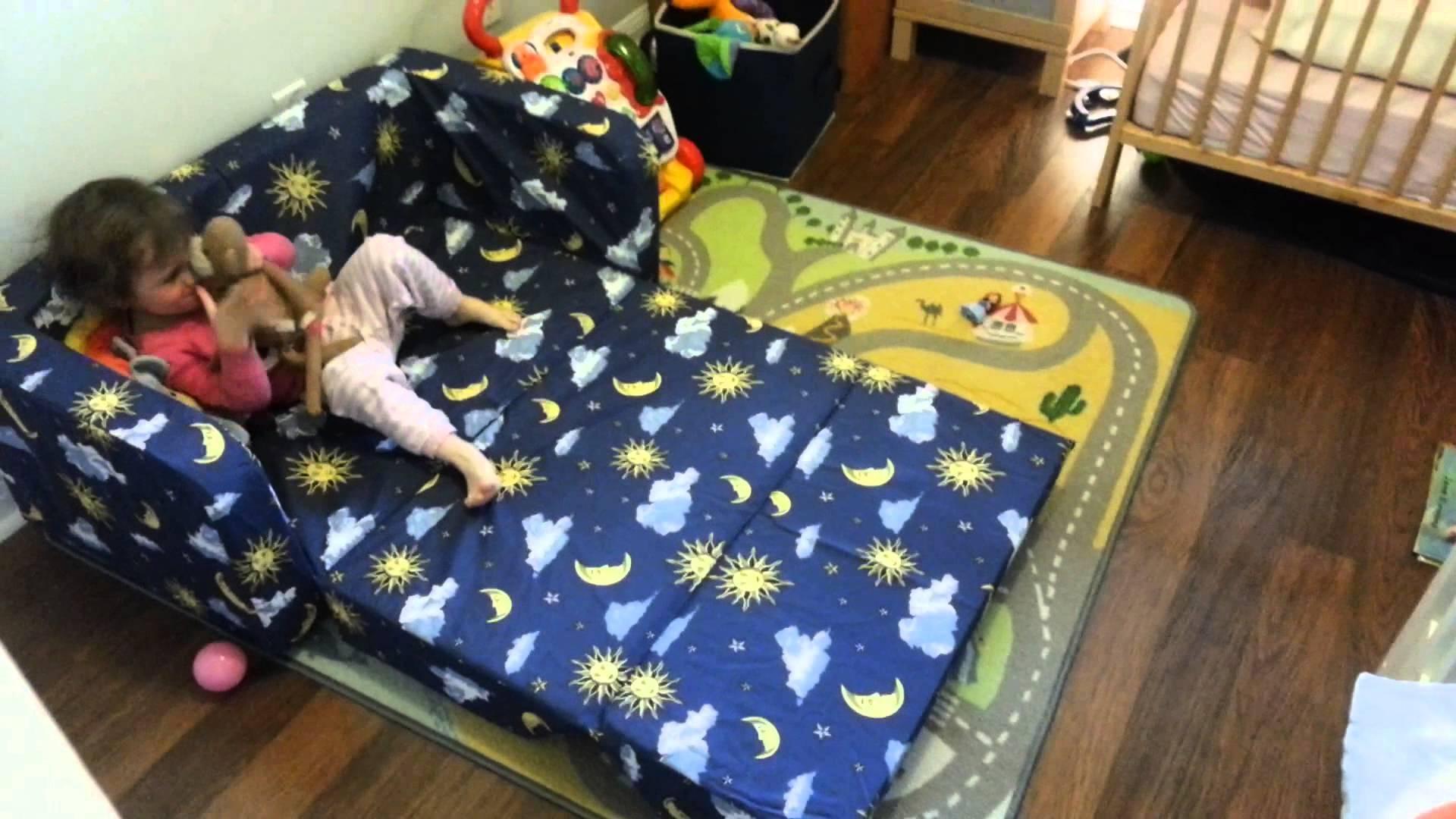 Eloise New Toddler Flip Sofa Pt2 – Youtube Regarding Kid Flip Open Sofa Beds (Image 2 of 20)